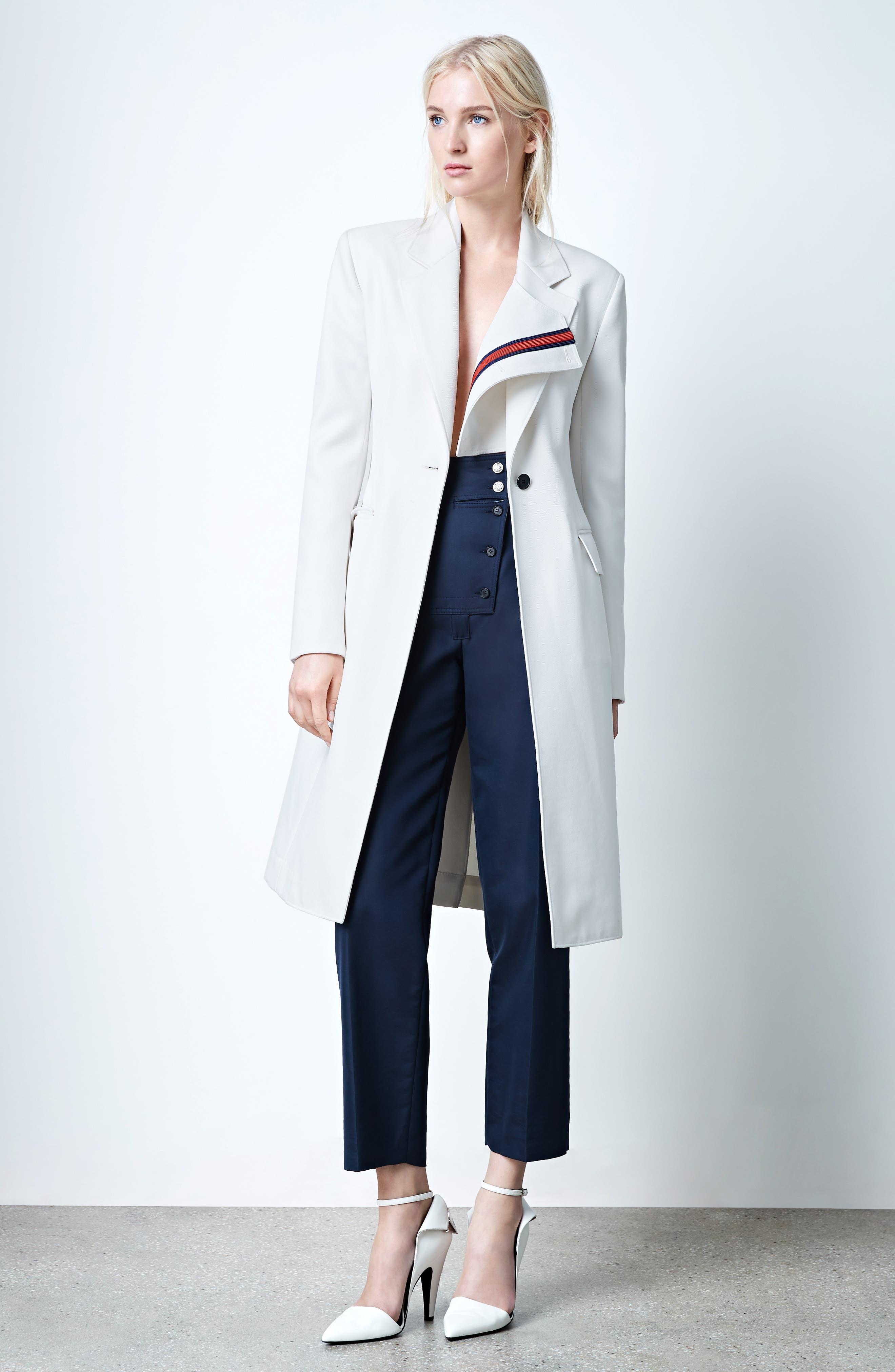 Alternate Image 2  - CALVIN KLEIN 205W39NYC Uniform Stripe Coat