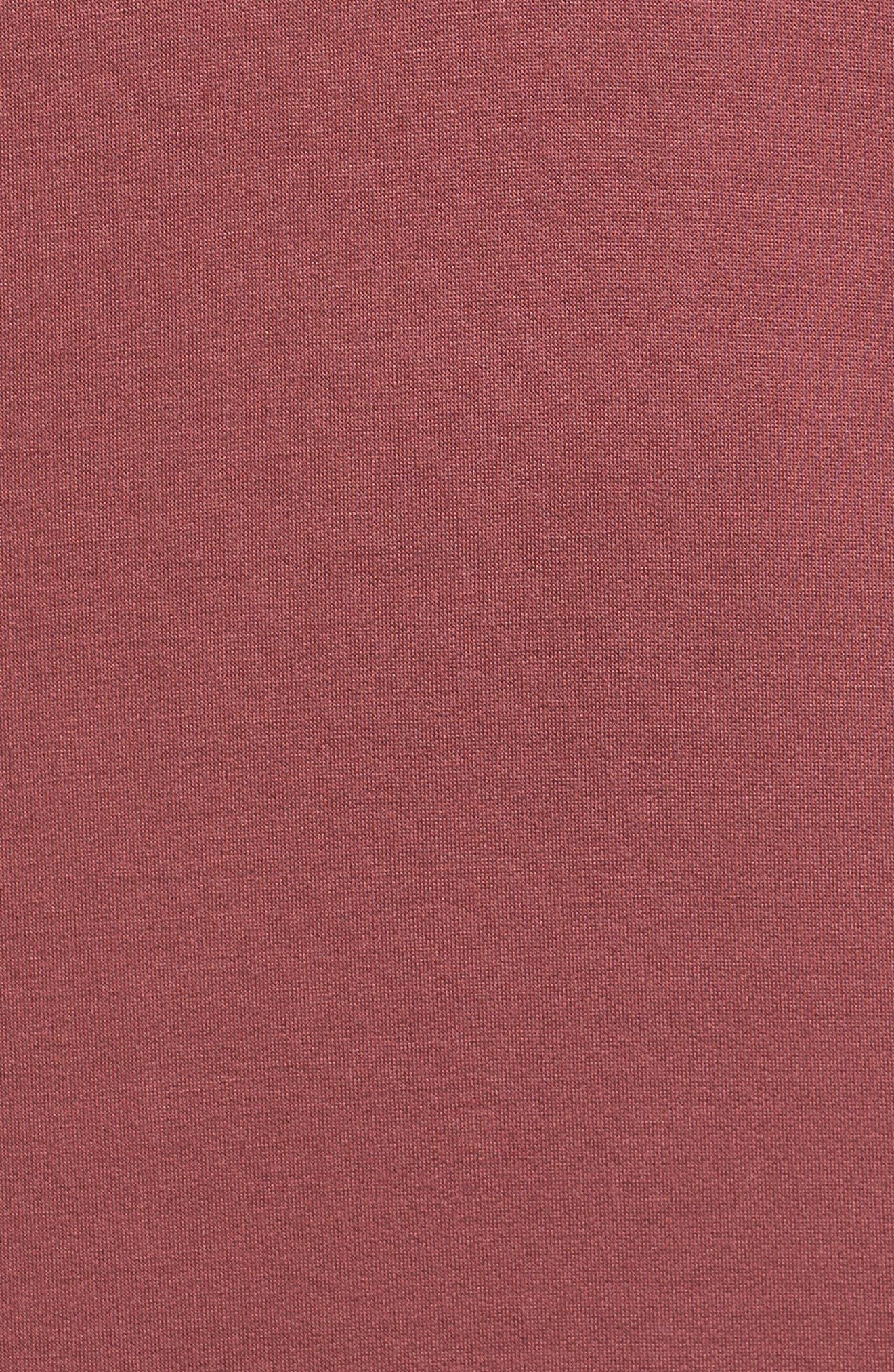V-Neck Dress,                             Alternate thumbnail 5, color,                             Burgundy Ginger