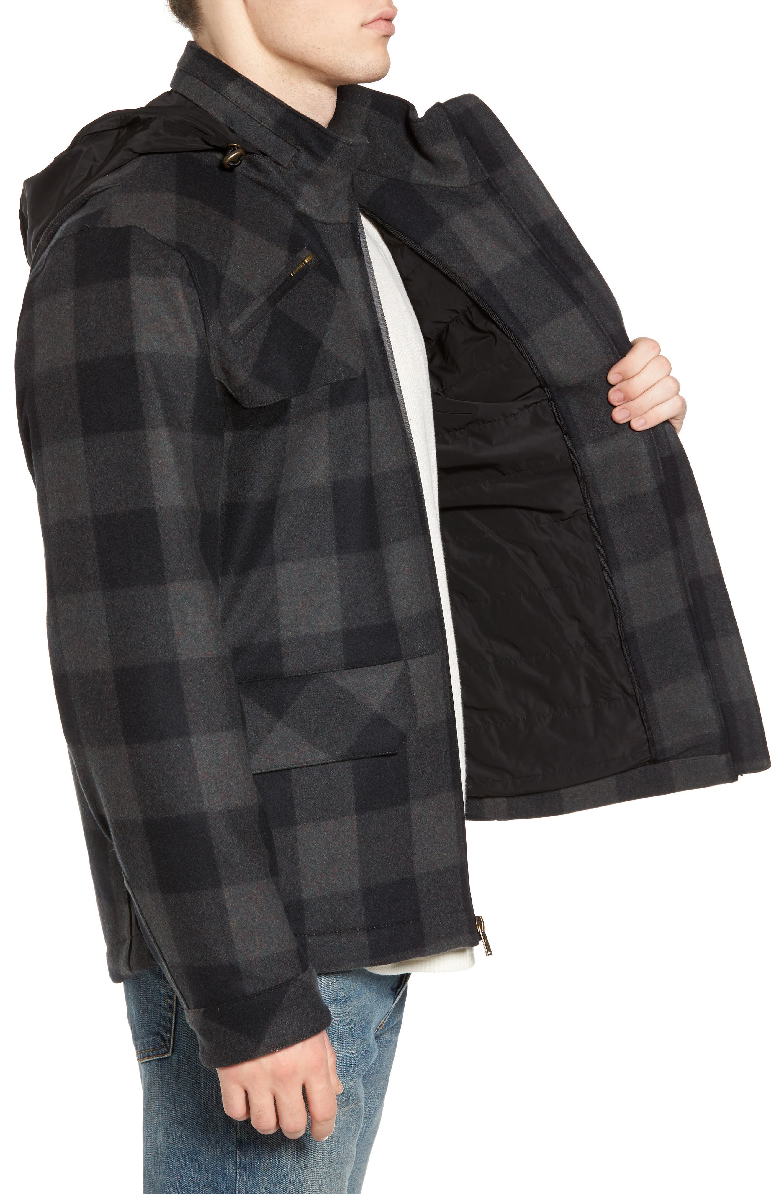Albuquerque Jacket,                             Alternate thumbnail 3, color,                             Olive Buffalo Plaid