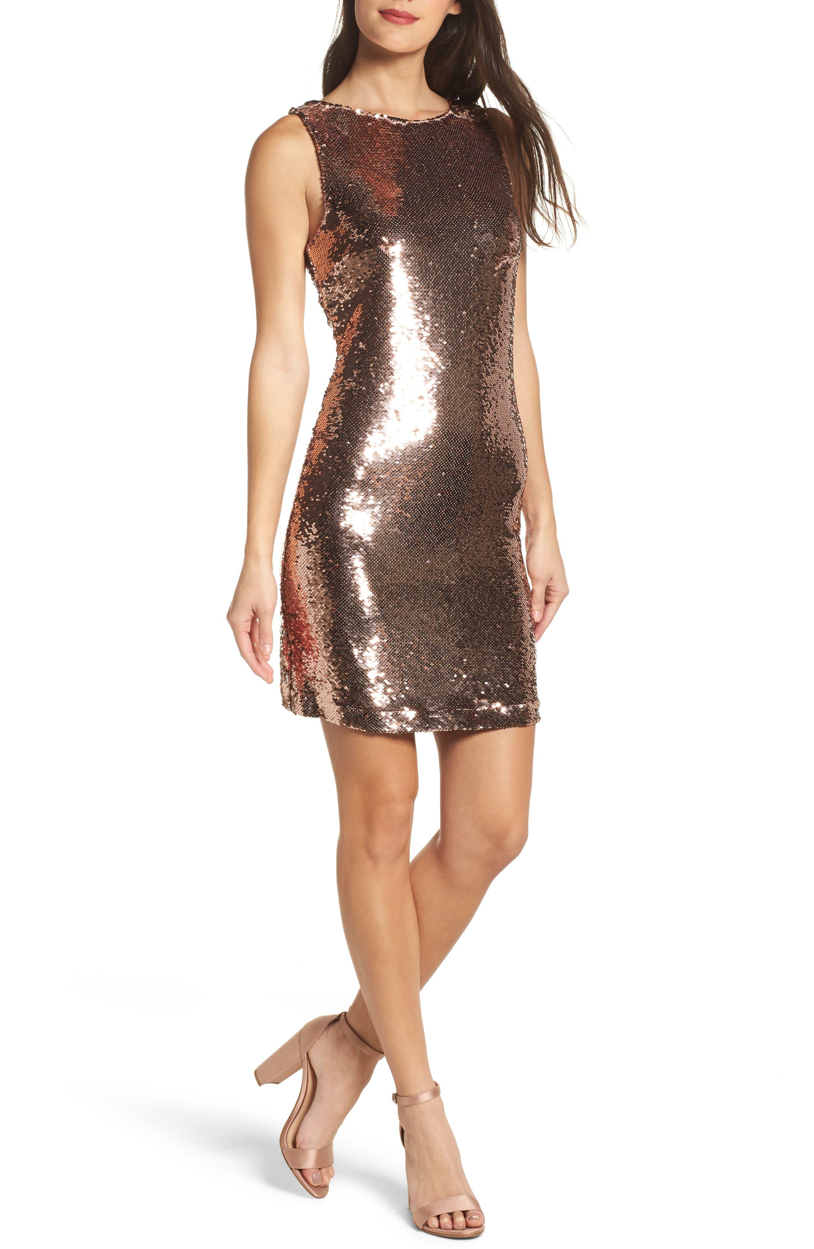BB Dakota Garland Sequin Sheath Dress
