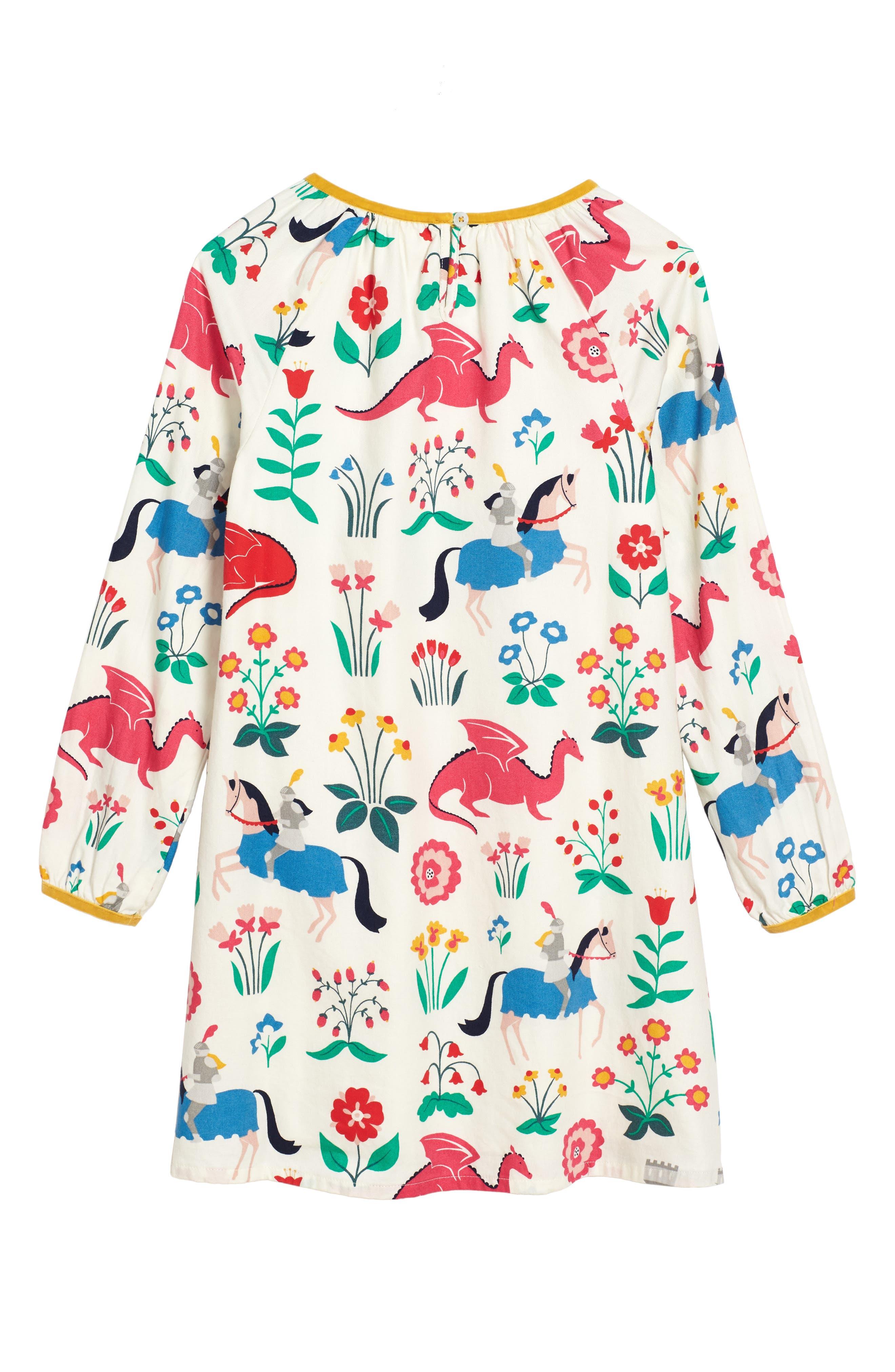 Alternate Image 3  - Mini Boden Print Woven Dress (Toddler Girls, Little Girls & Big Girls)