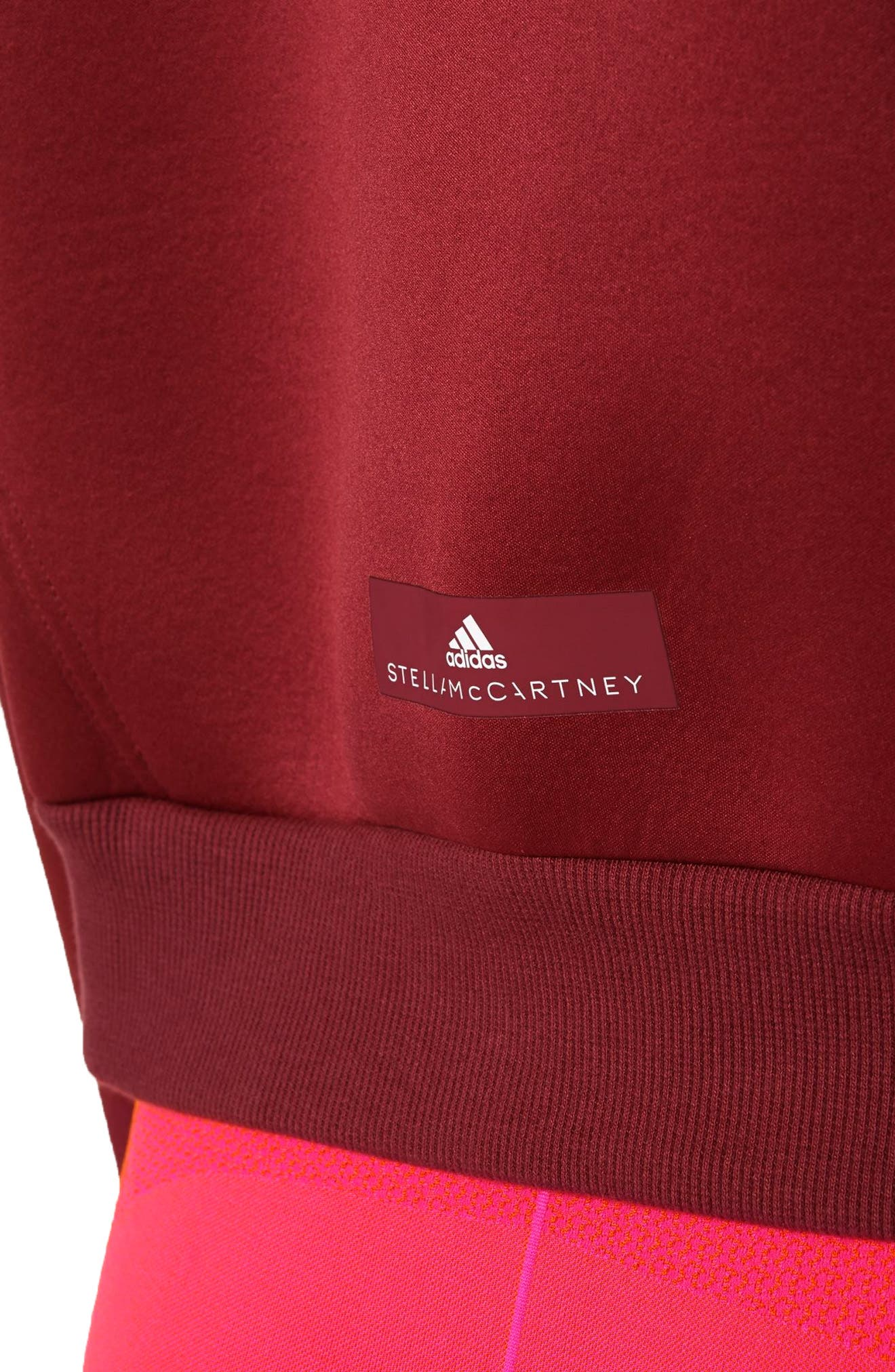 Alternate Image 4  - adidas by Stella McCartney Yoga Turtleneck Sweatshirt