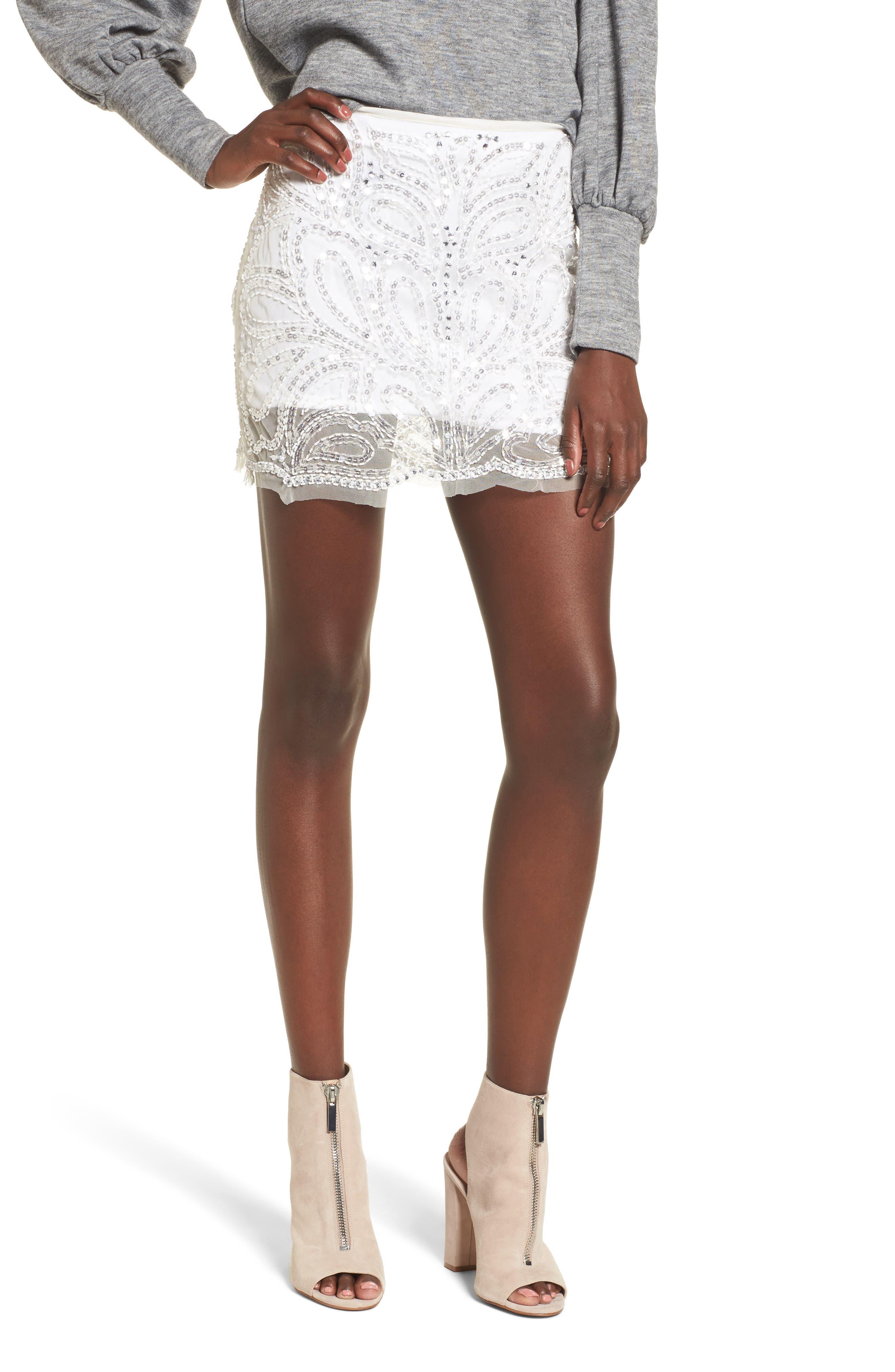 Raga Silvermoon Sequin Miniskirt