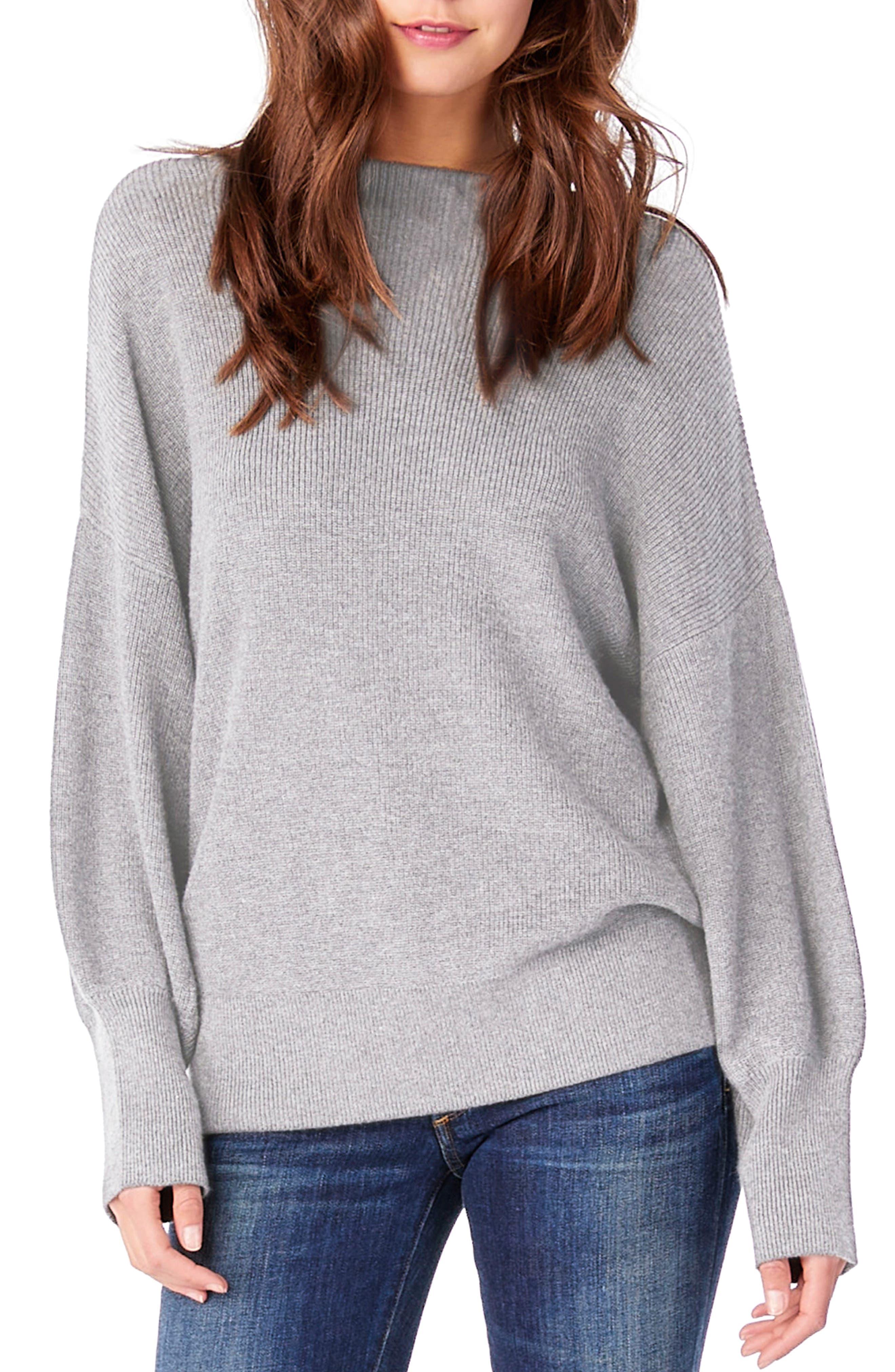 Mock Neck Dolman Sleeve Pullover,                         Main,                         color, Tinsel