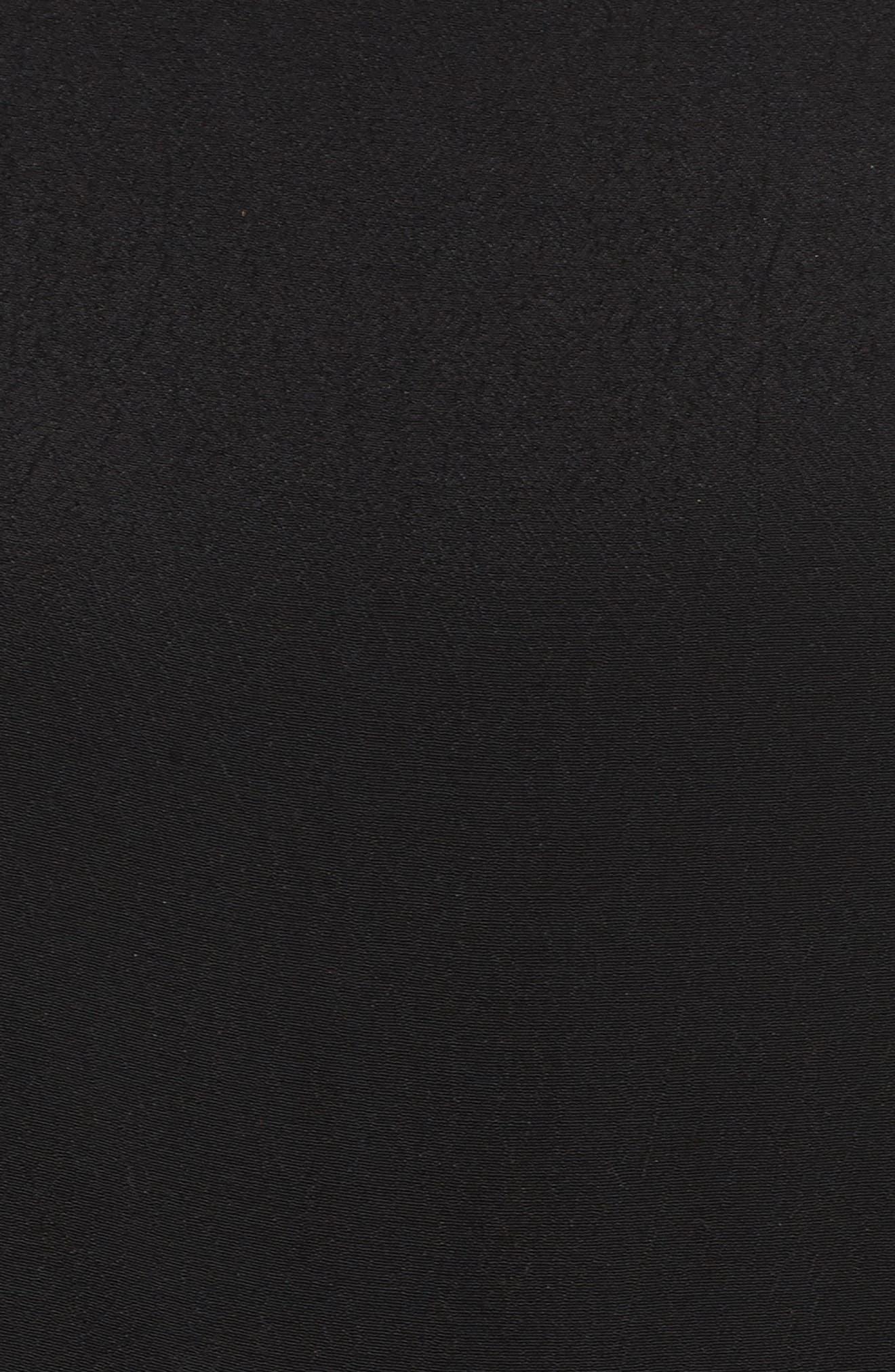 Ruffle Cold Shoulder Jumpsuit,                             Alternate thumbnail 5, color,                             Black