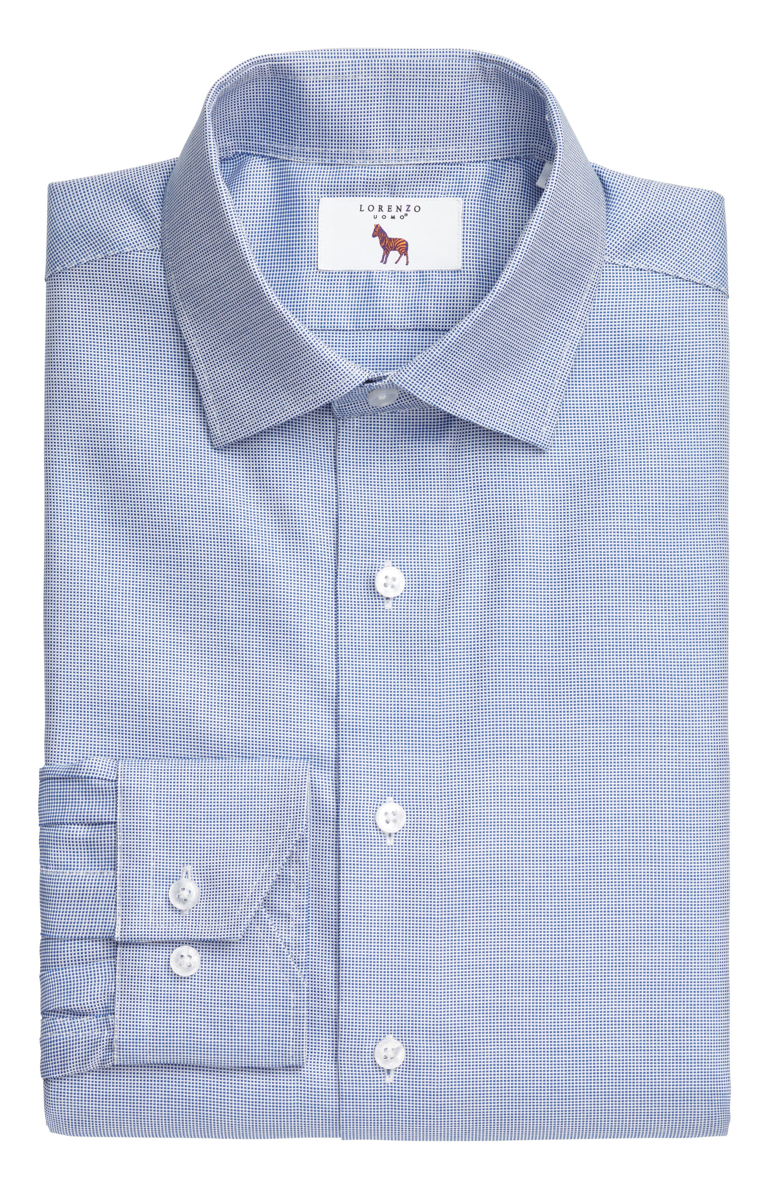 Main Image - Lorenzo Uomo Trim Fit Textured Dress Shirt