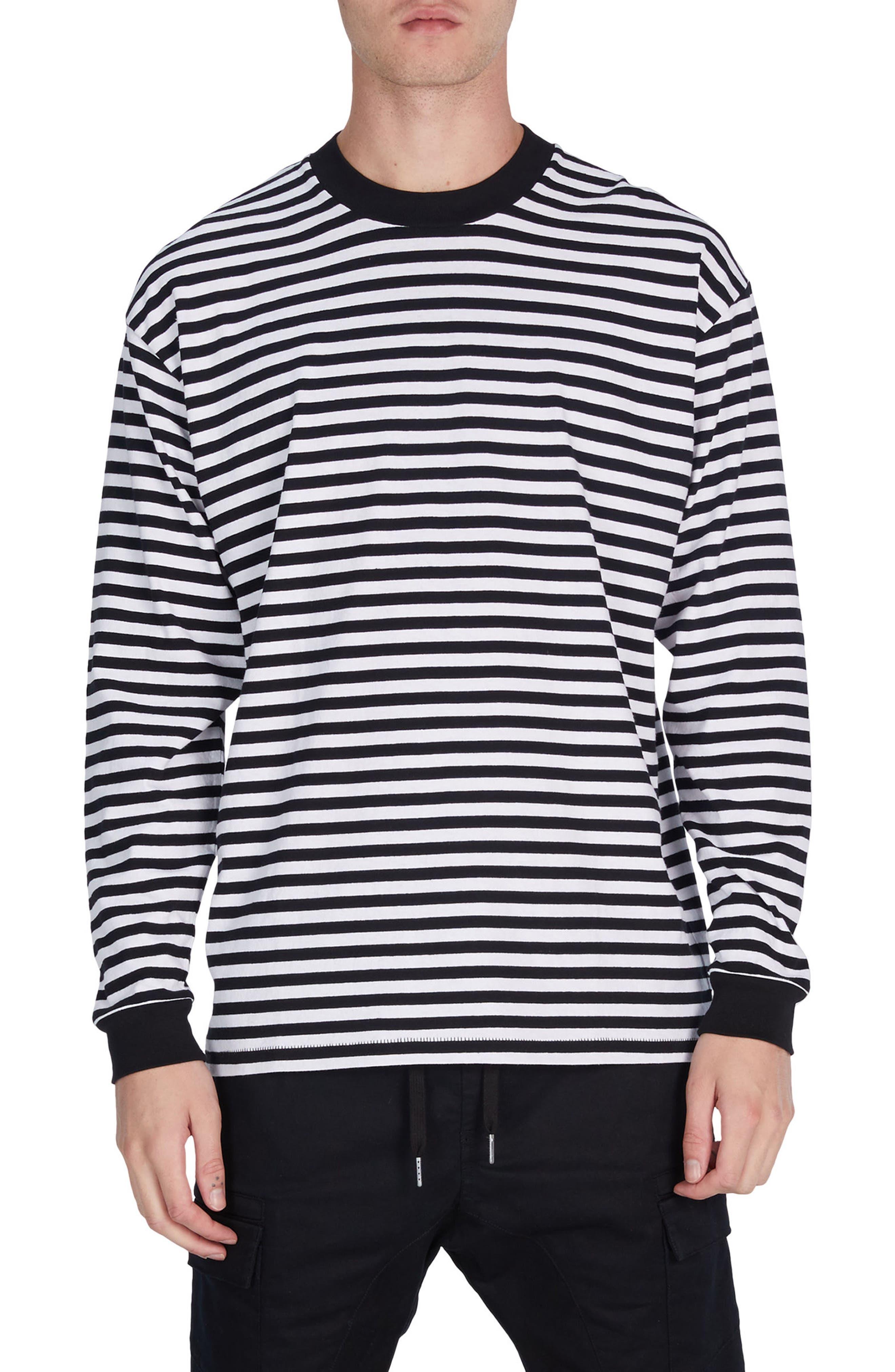 Stripe Box T-Shirt,                         Main,                         color, Black/ White