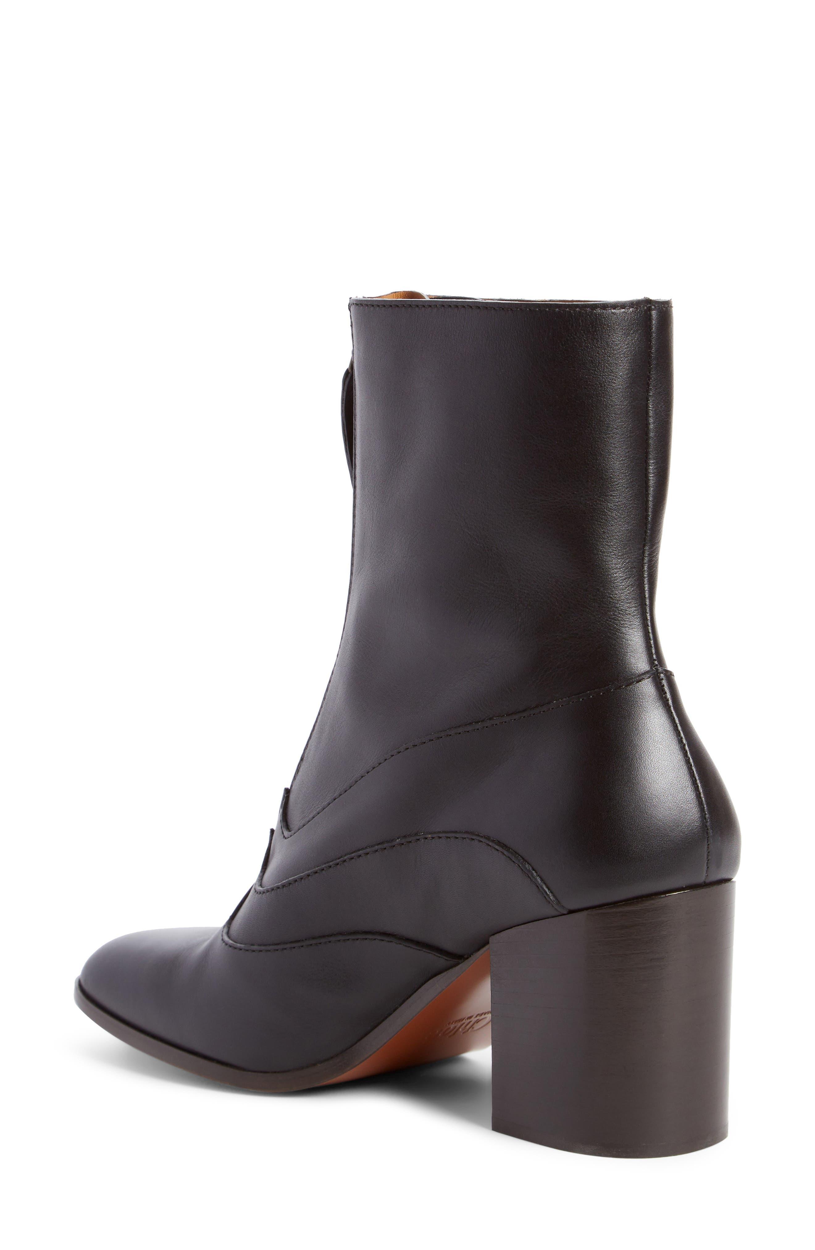 Qacey Square Toe Boot,                             Alternate thumbnail 2, color,                             Black
