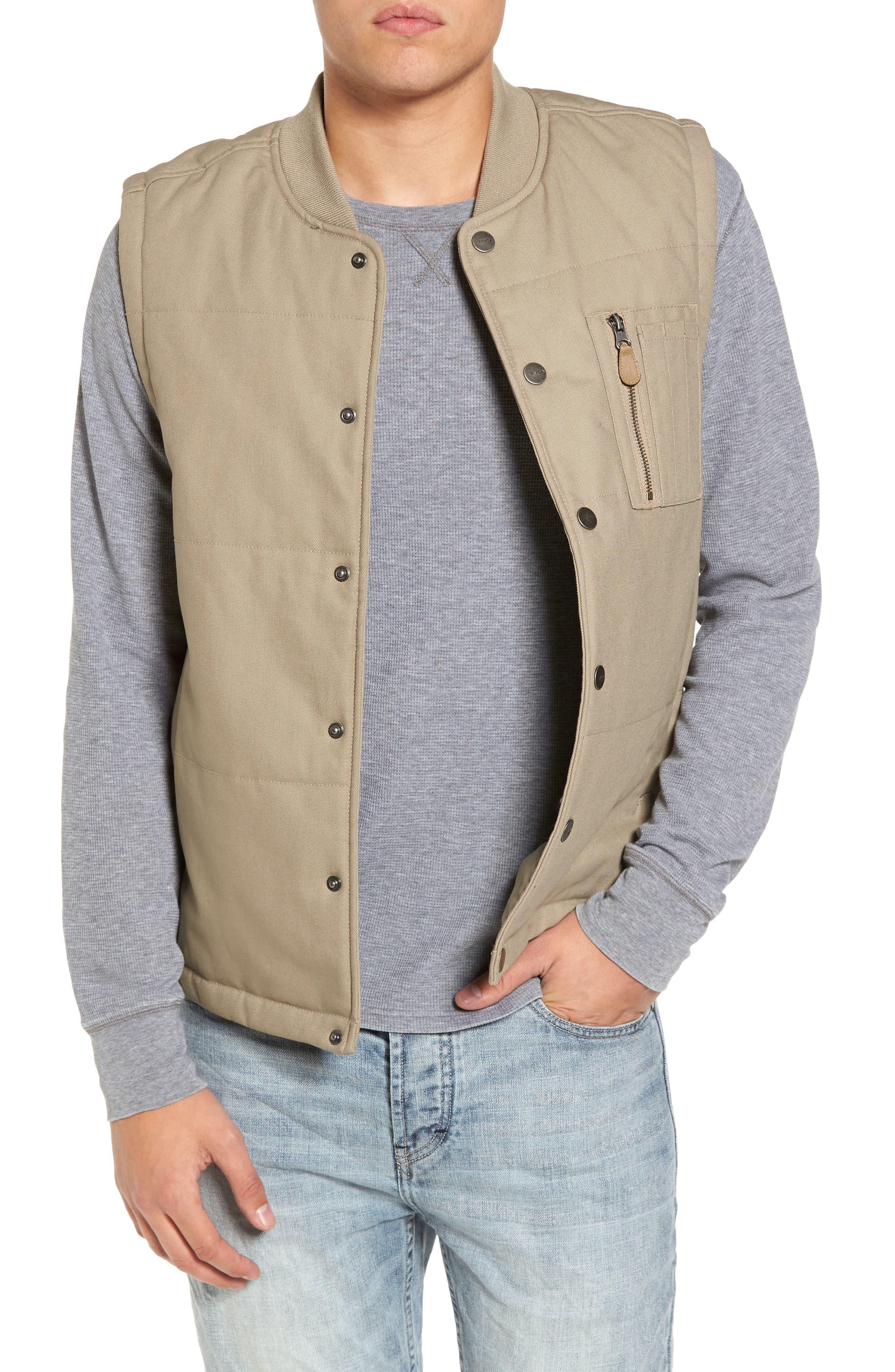 Toy Machine Vest,                         Main,                         color, Dark Khaki