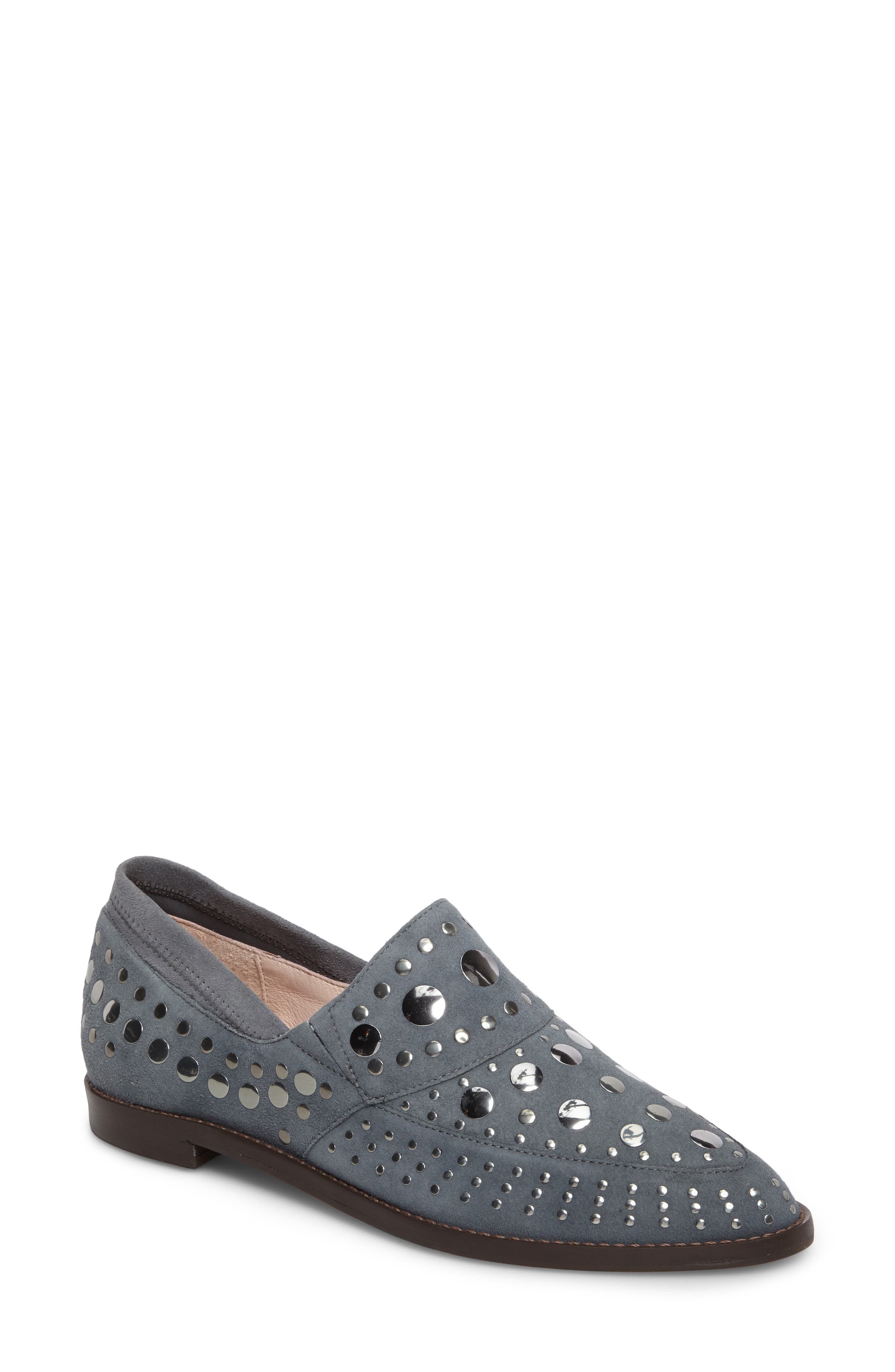 Ping Studded Loafer,                             Main thumbnail 1, color,                             Ink Leather