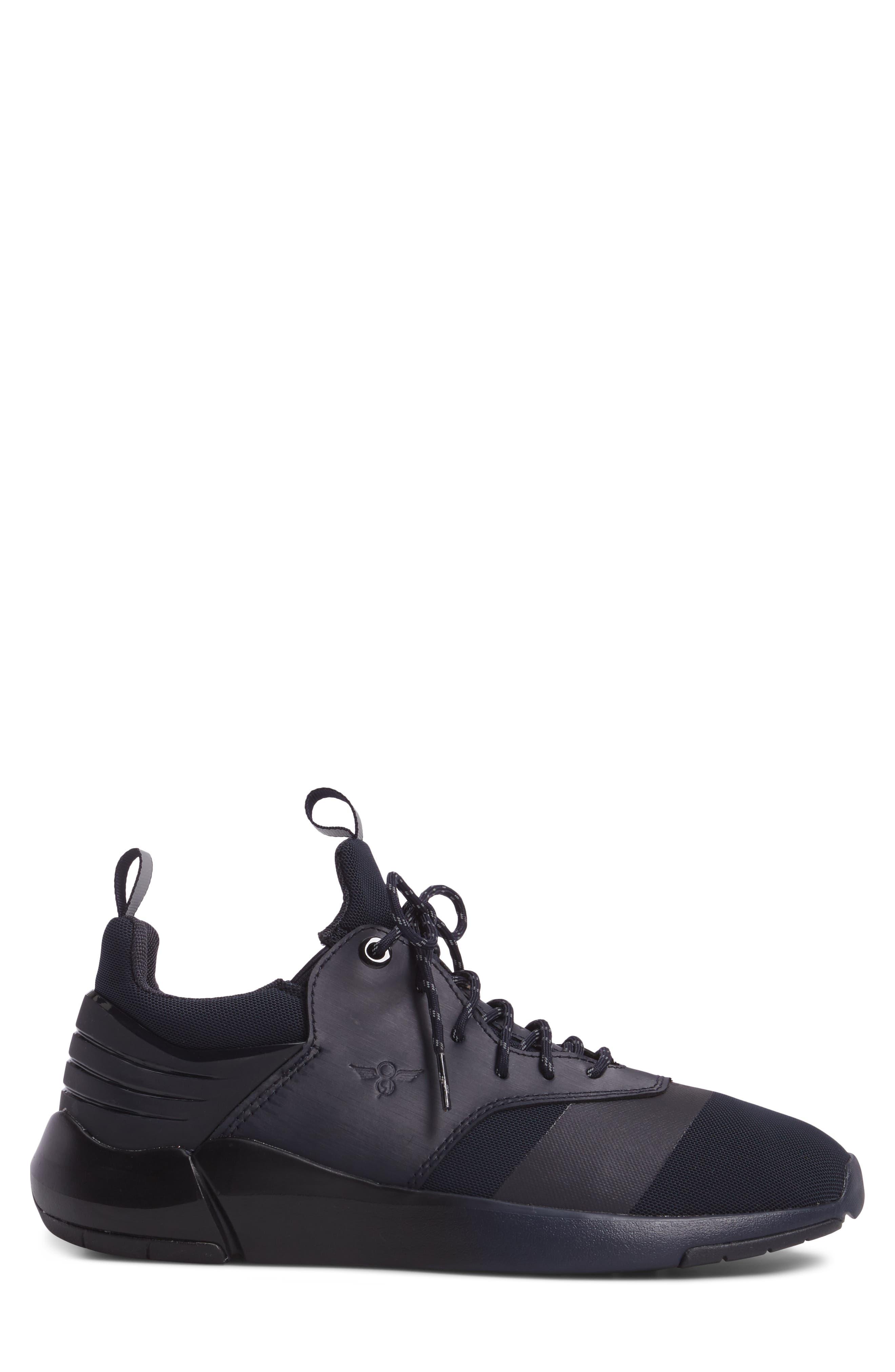 Motus Sneaker,                             Alternate thumbnail 3, color,                             Navy Reflective Leather