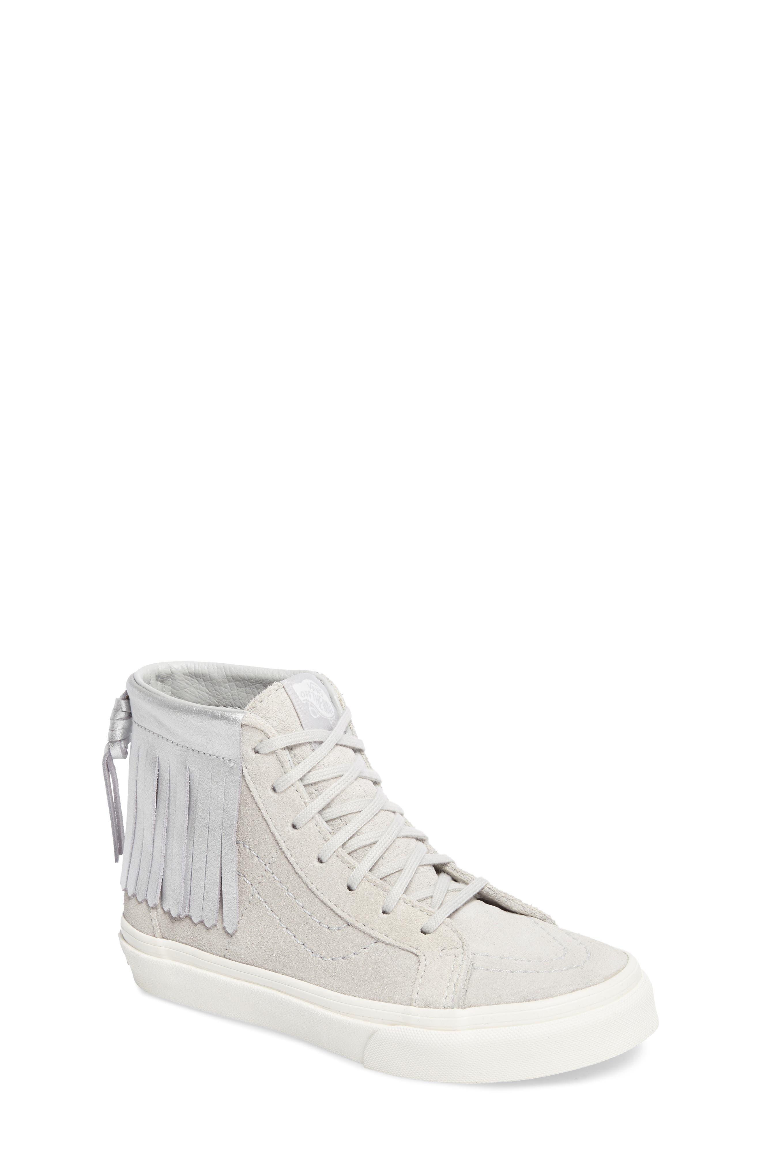 Sk8-Hi Moc Sneaker,                             Main thumbnail 1, color,                             Metallic Glacier Gray