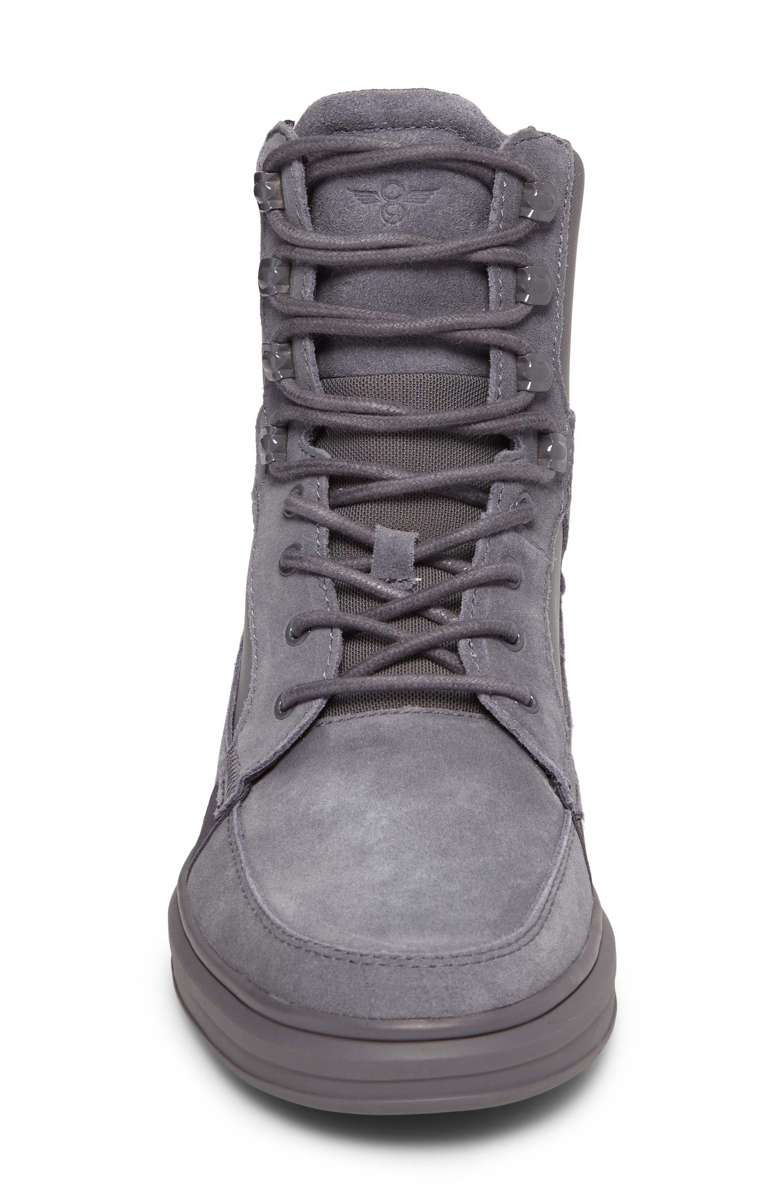 Desimo Sneaker,                             Alternate thumbnail 4, color,                             Smoke Leather