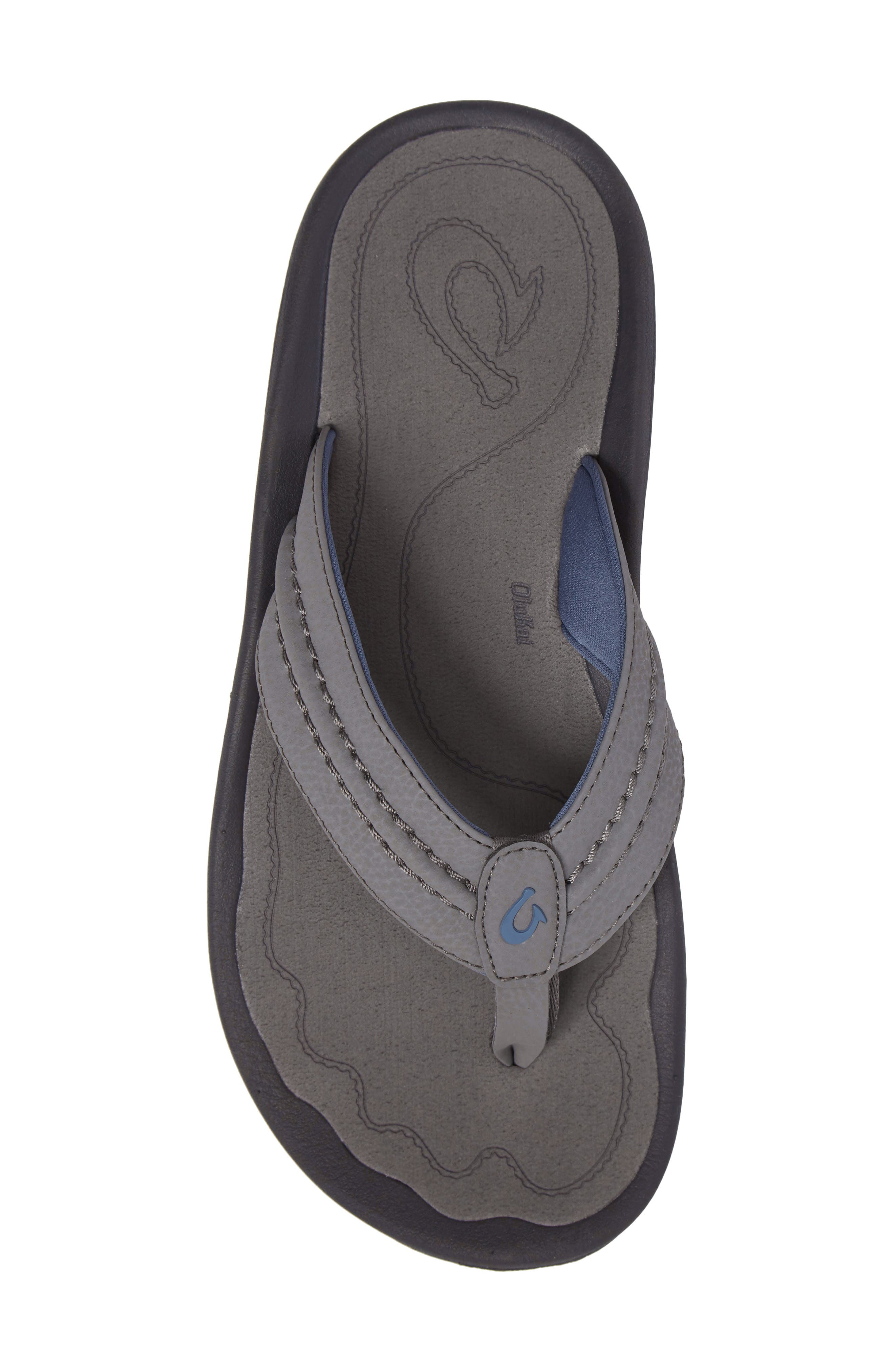 'Hokua' Flip Flop,                             Alternate thumbnail 5, color,                             Charcoal/ Charcoal