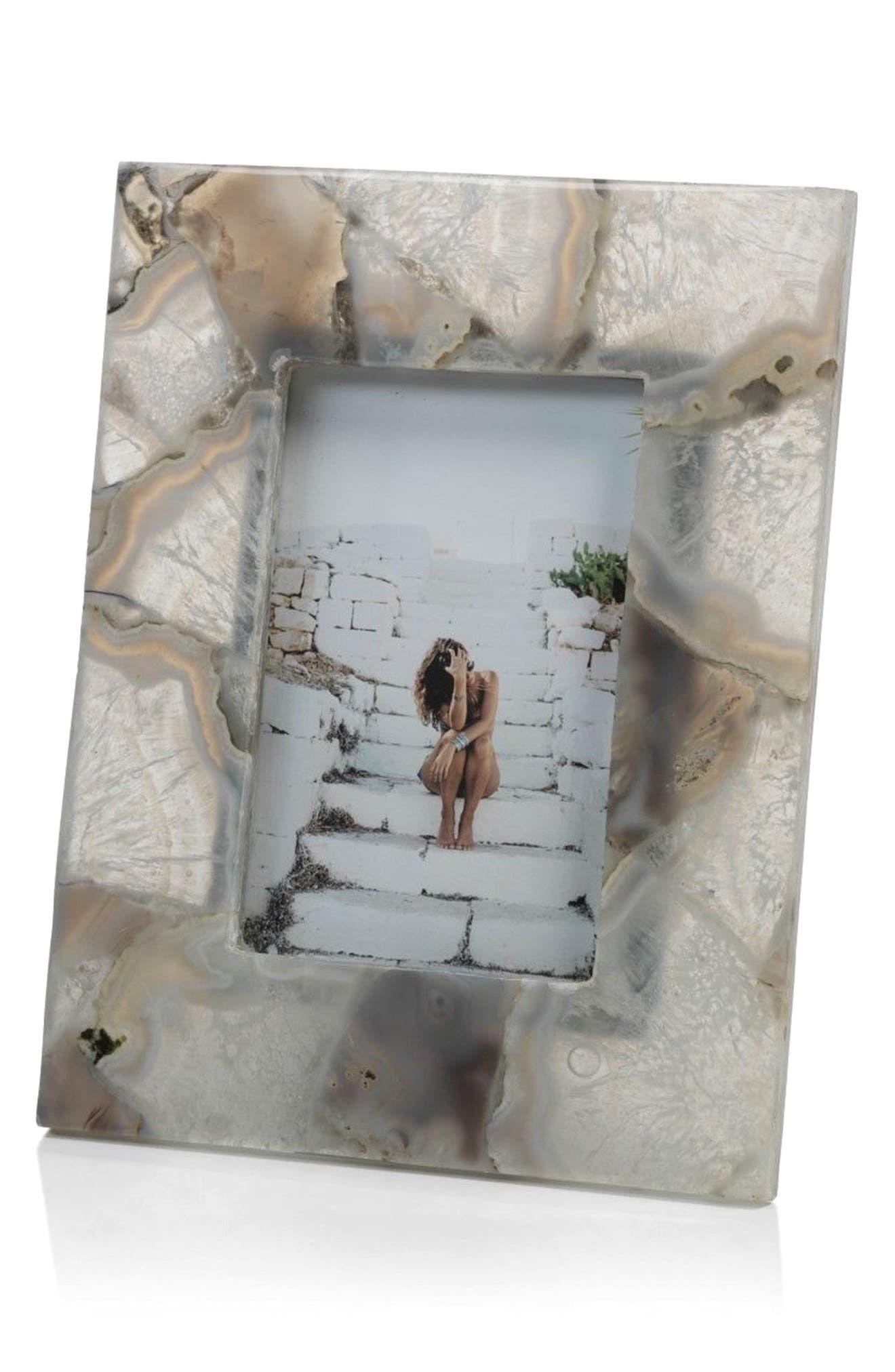 Preto Agate Picture Frame,                         Main,                         color, Grey/ White/ Off-White