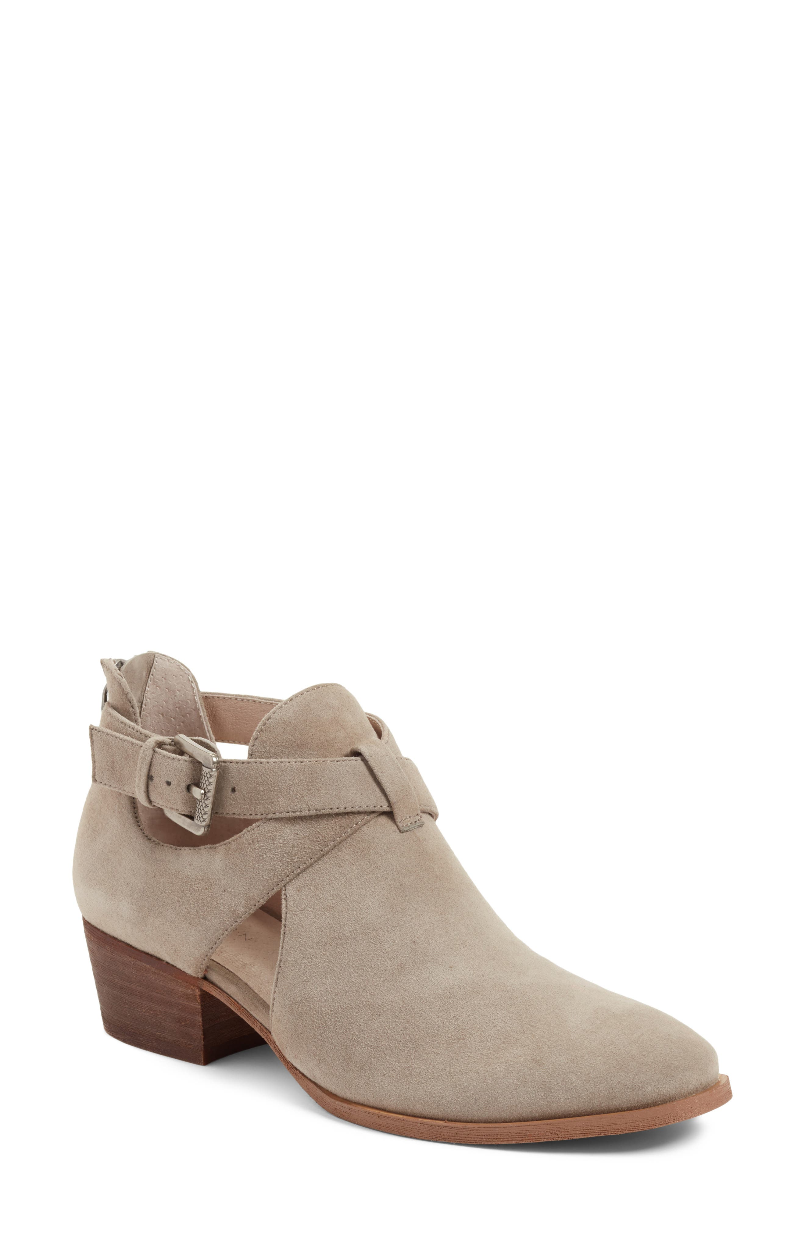 Tina Bootie,                             Main thumbnail 1, color,                             Stone Suede