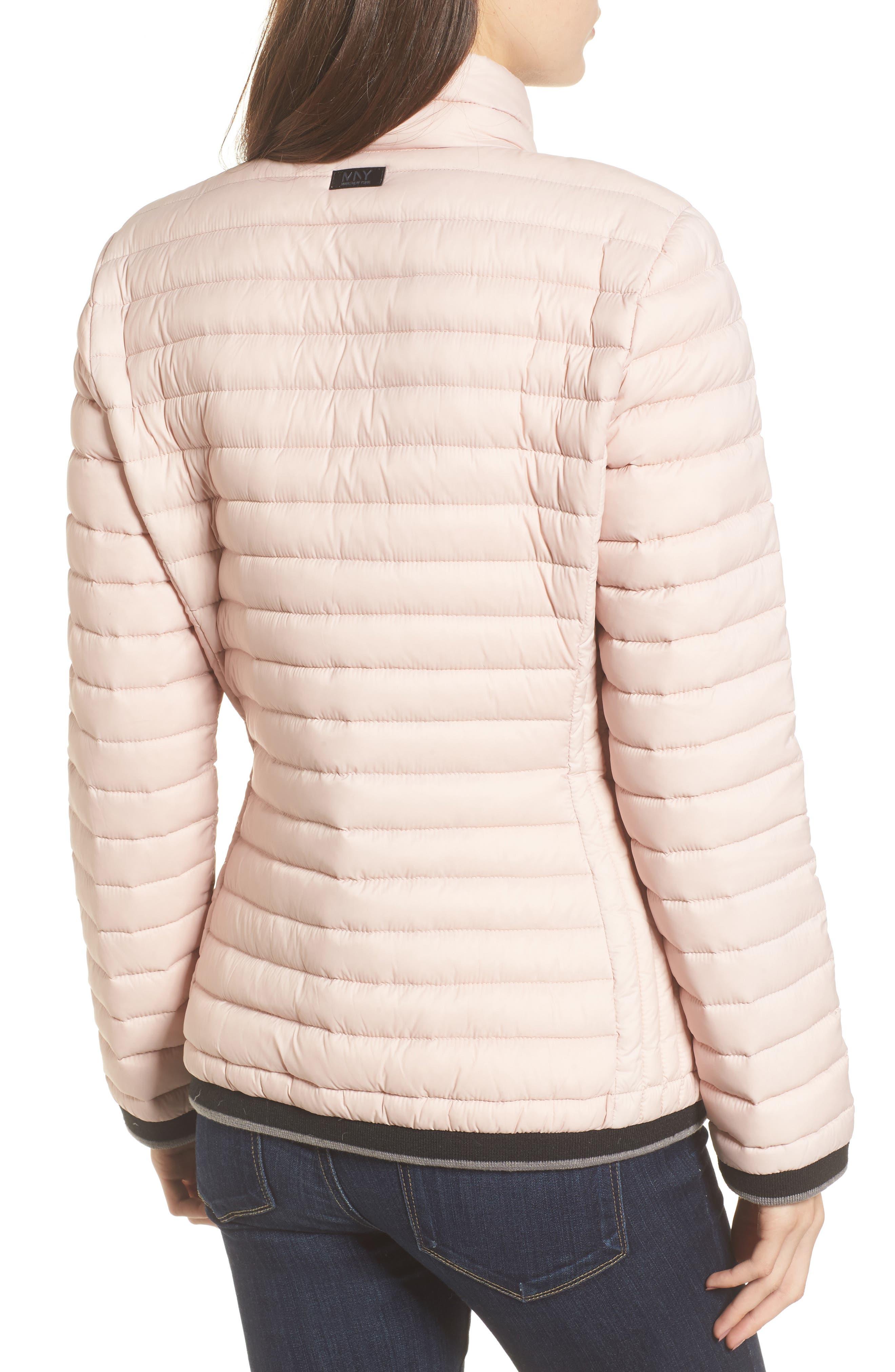 Stripe Trim Packable Down Jacket,                             Alternate thumbnail 2, color,                             Chablis