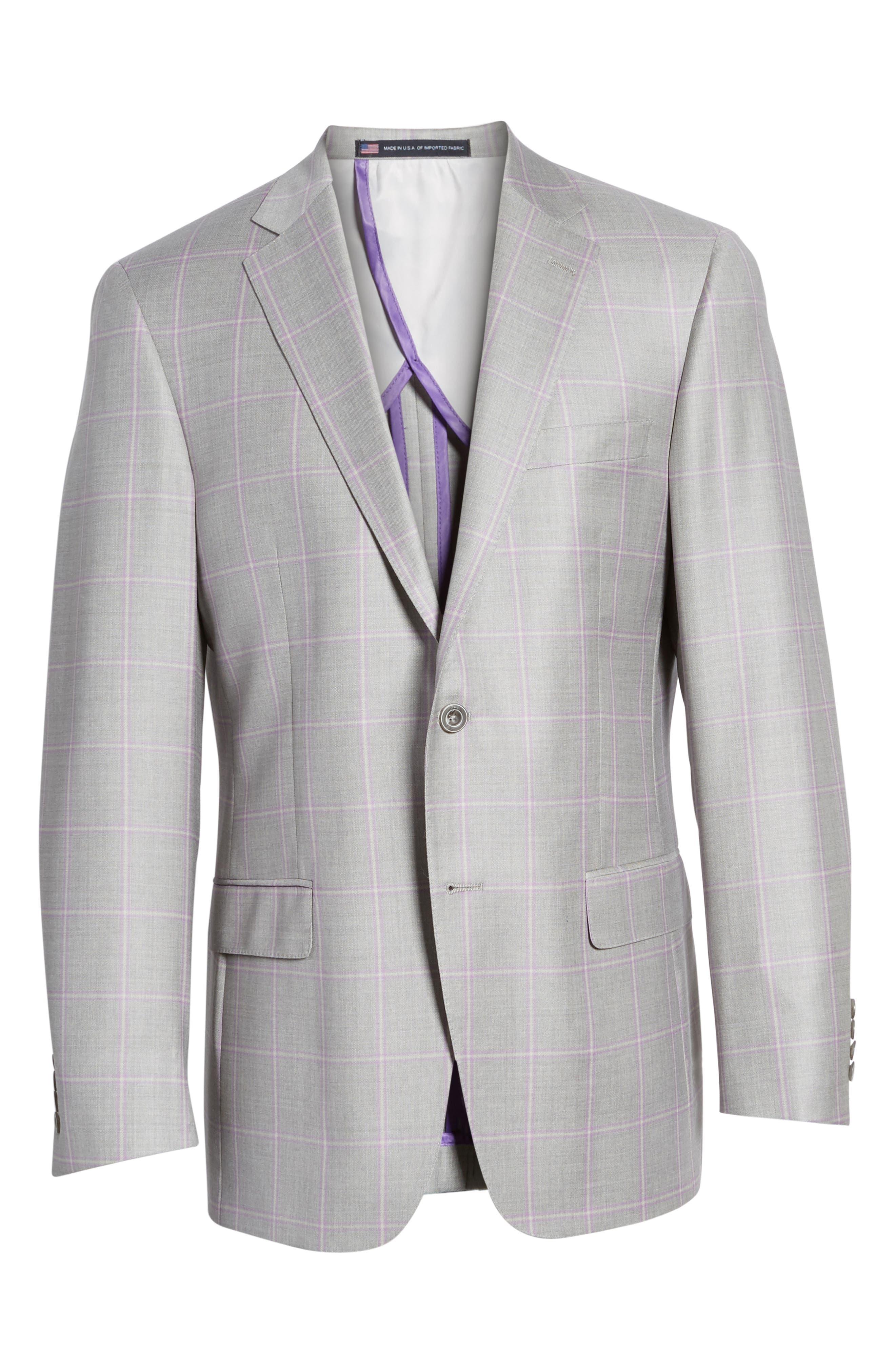 Alternate Image 6  - Hart Schaffner Marx Classic Fit Windowpane Wool Sport Coat