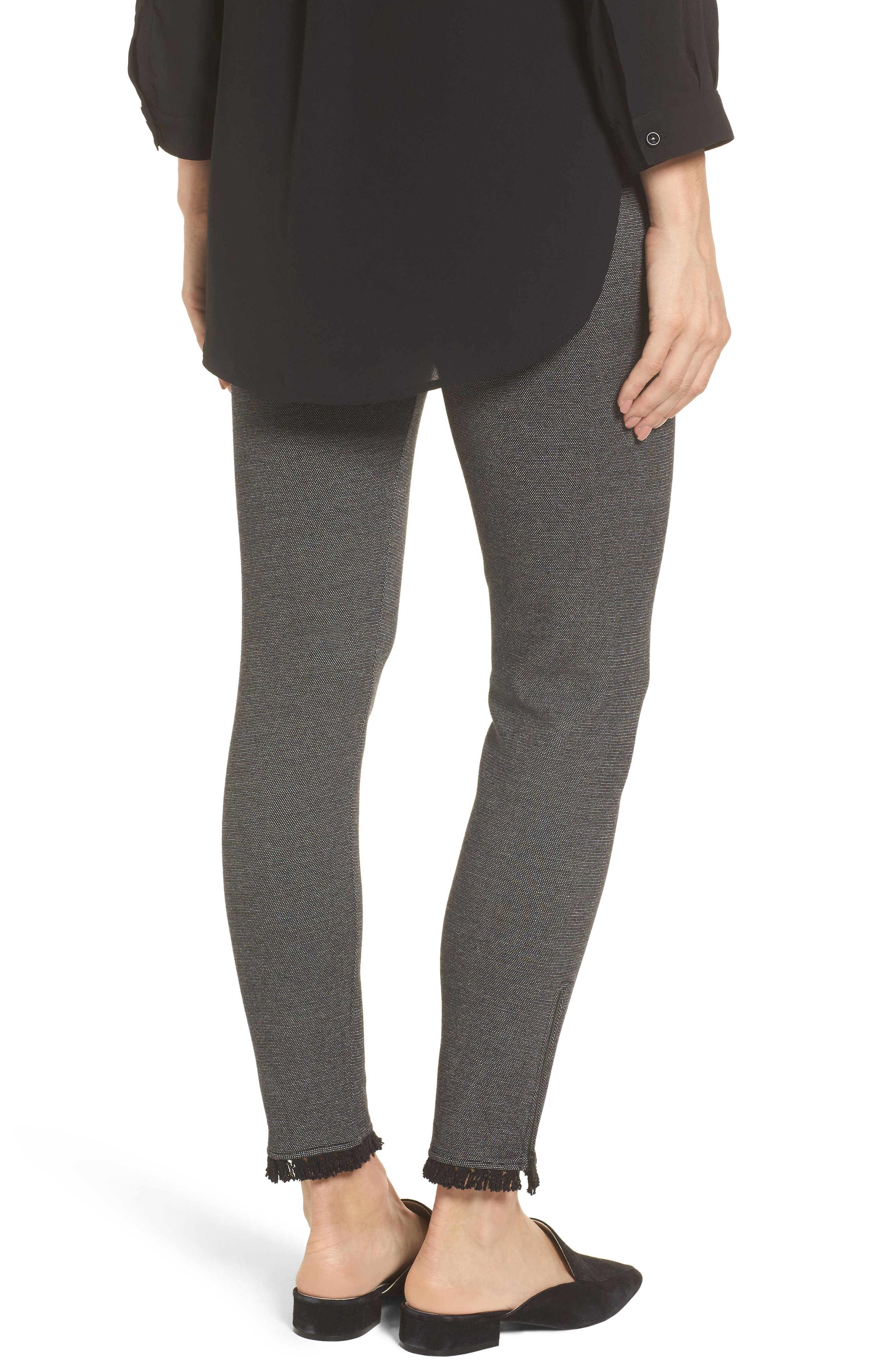 Alternate Image 2  - NIC+ZOE Fringe Hem Leggings (Regular & Petite)