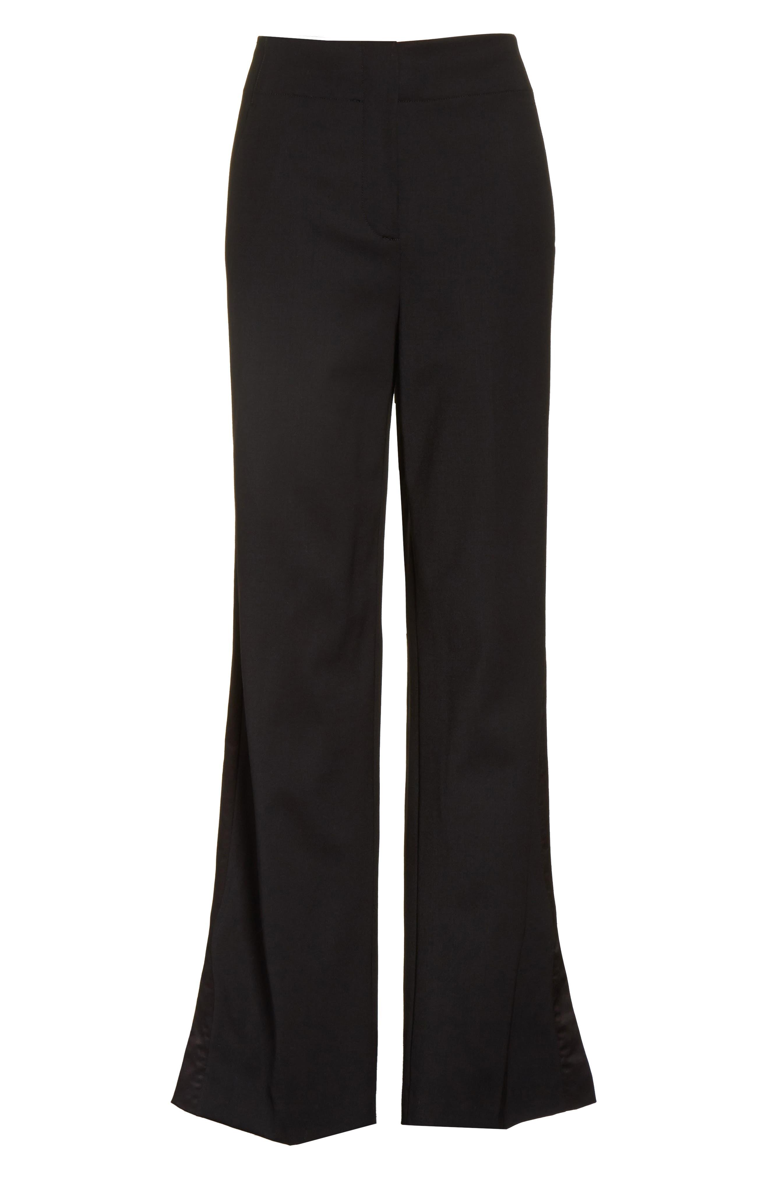 Alternate Image 6  - Rebecca Stretch Wool Tuxedo Pants