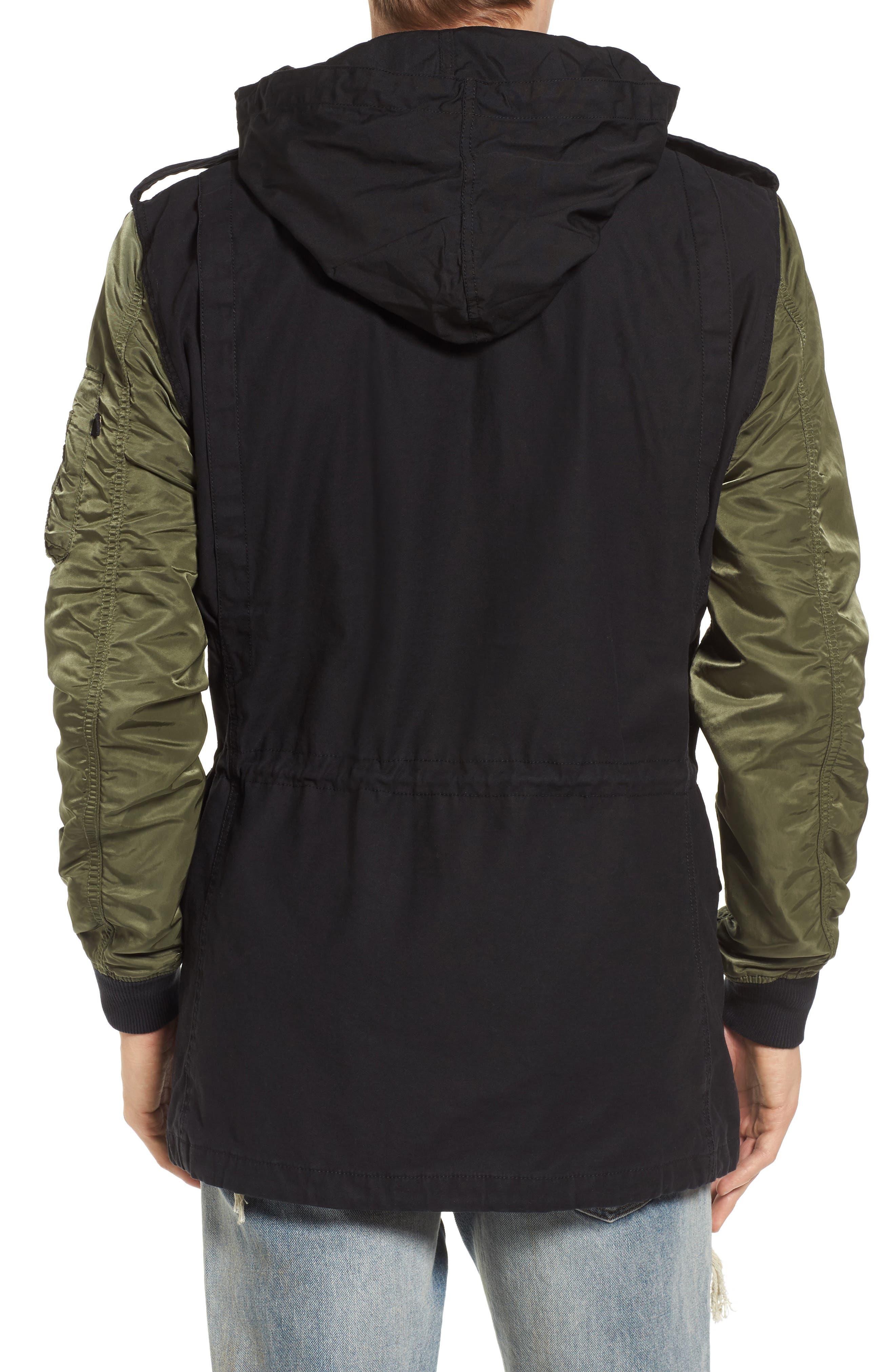 Fusion Field Coat,                             Alternate thumbnail 2, color,                             Black/ Sage