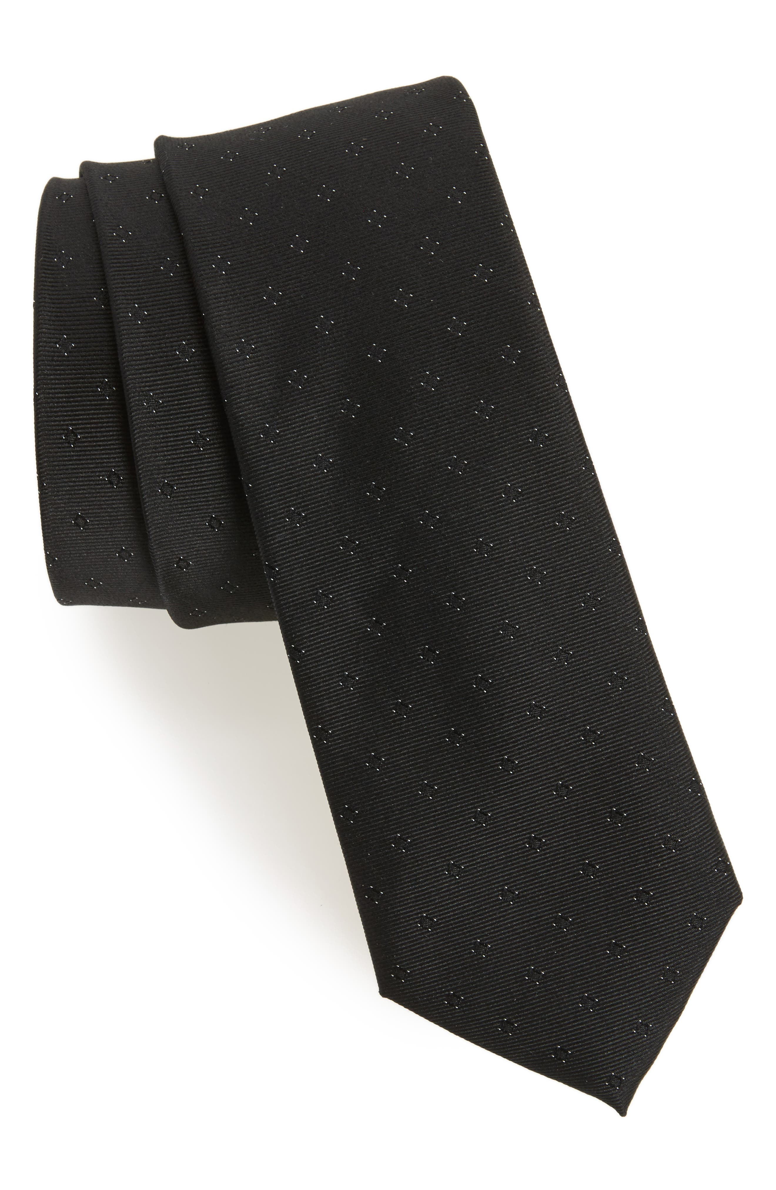 Wardrobe Silk Tie,                             Main thumbnail 1, color,                             Black