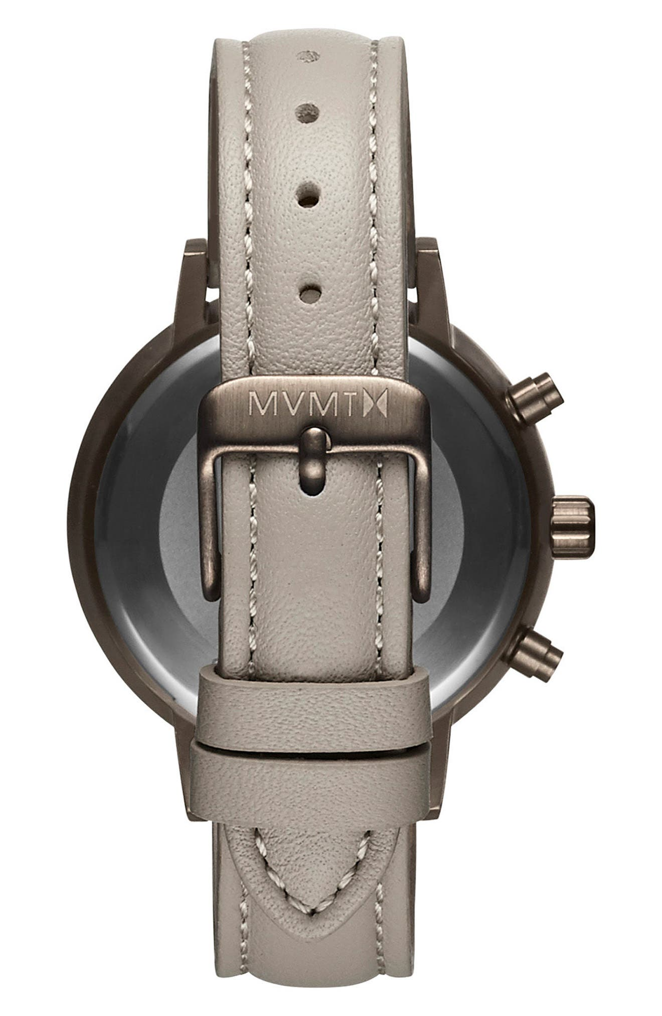 Nova Chronograph Leather Strap Watch, 38mm,                             Alternate thumbnail 2, color,                             Taupe