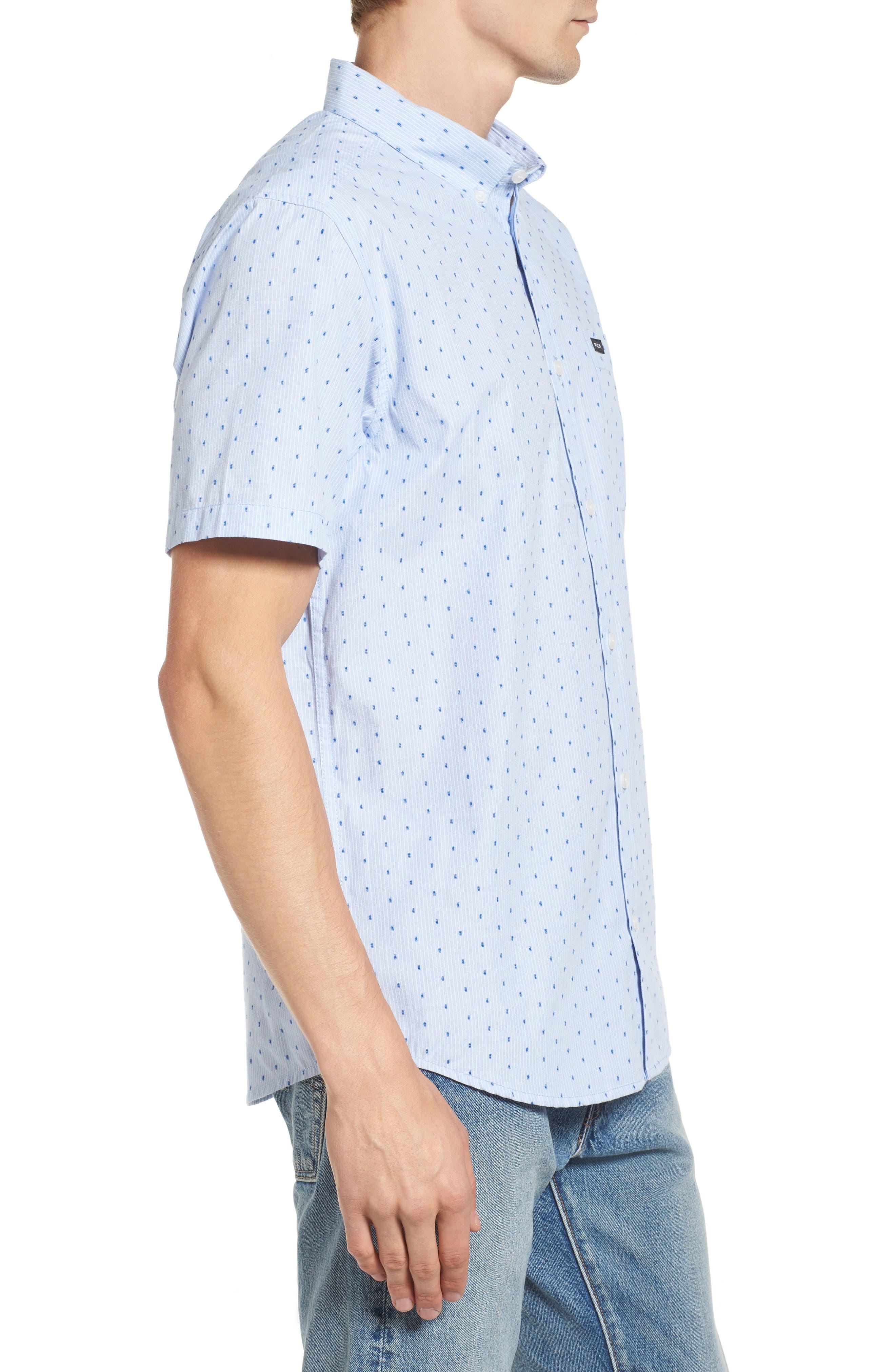 Return Dobby Woven Shirt,                             Alternate thumbnail 3, color,                             Antique White