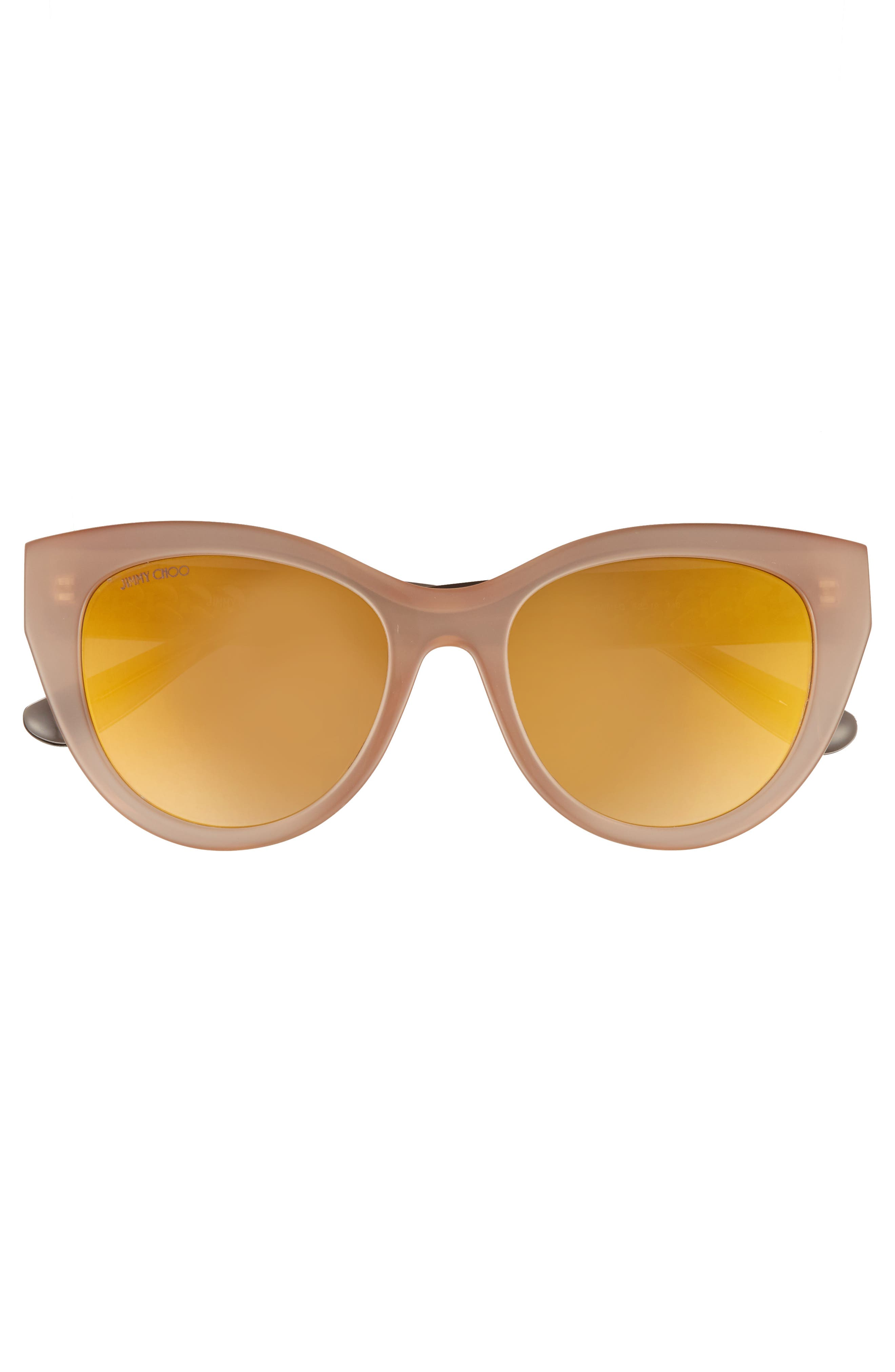 Chana 52mm Gradient Sunglasses,                             Alternate thumbnail 3, color,                             Nude