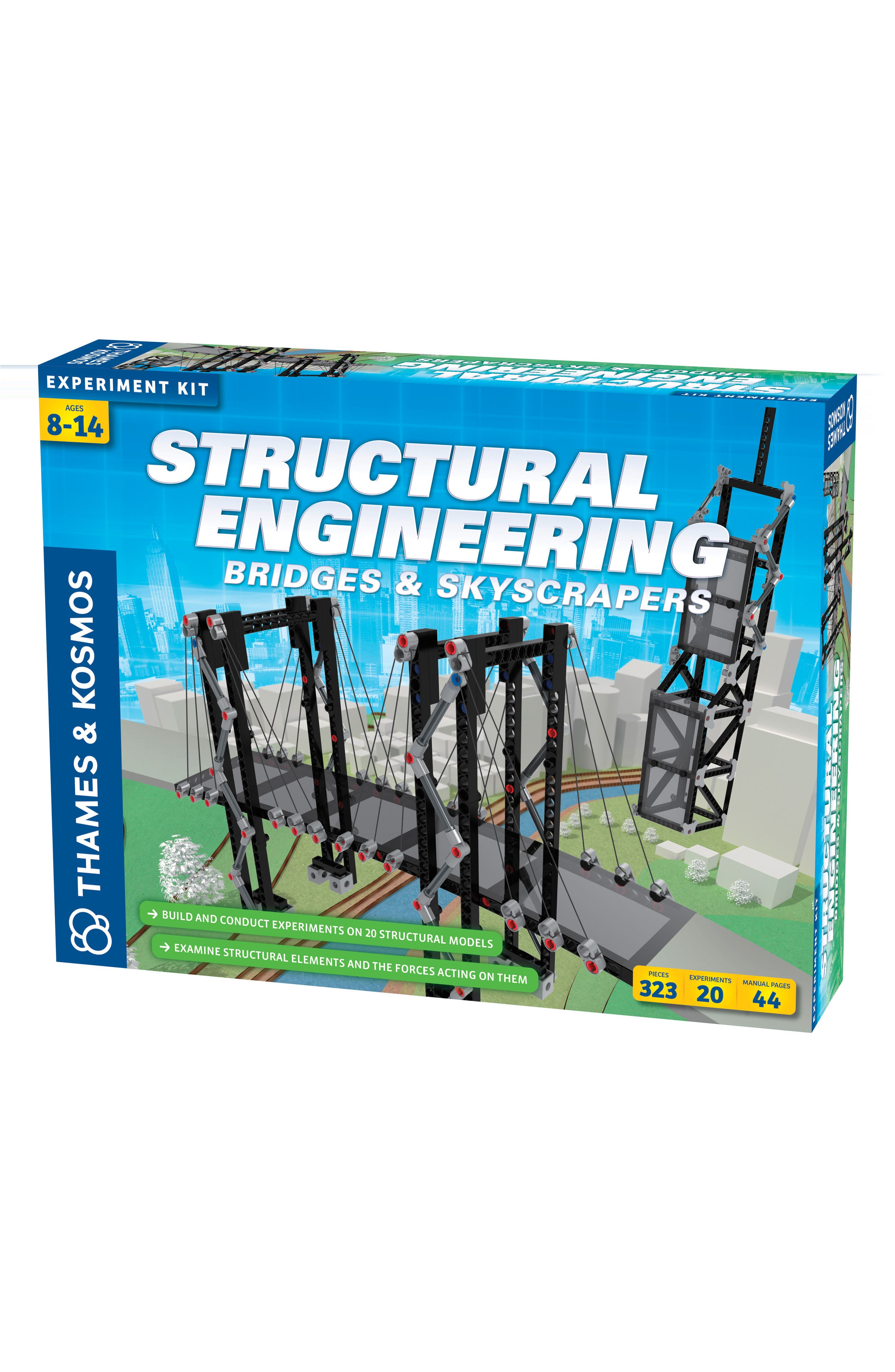 Structural Engineering 323-Piece Bridges & Skyscrapers Building Kit,                         Main,                         color, Multi