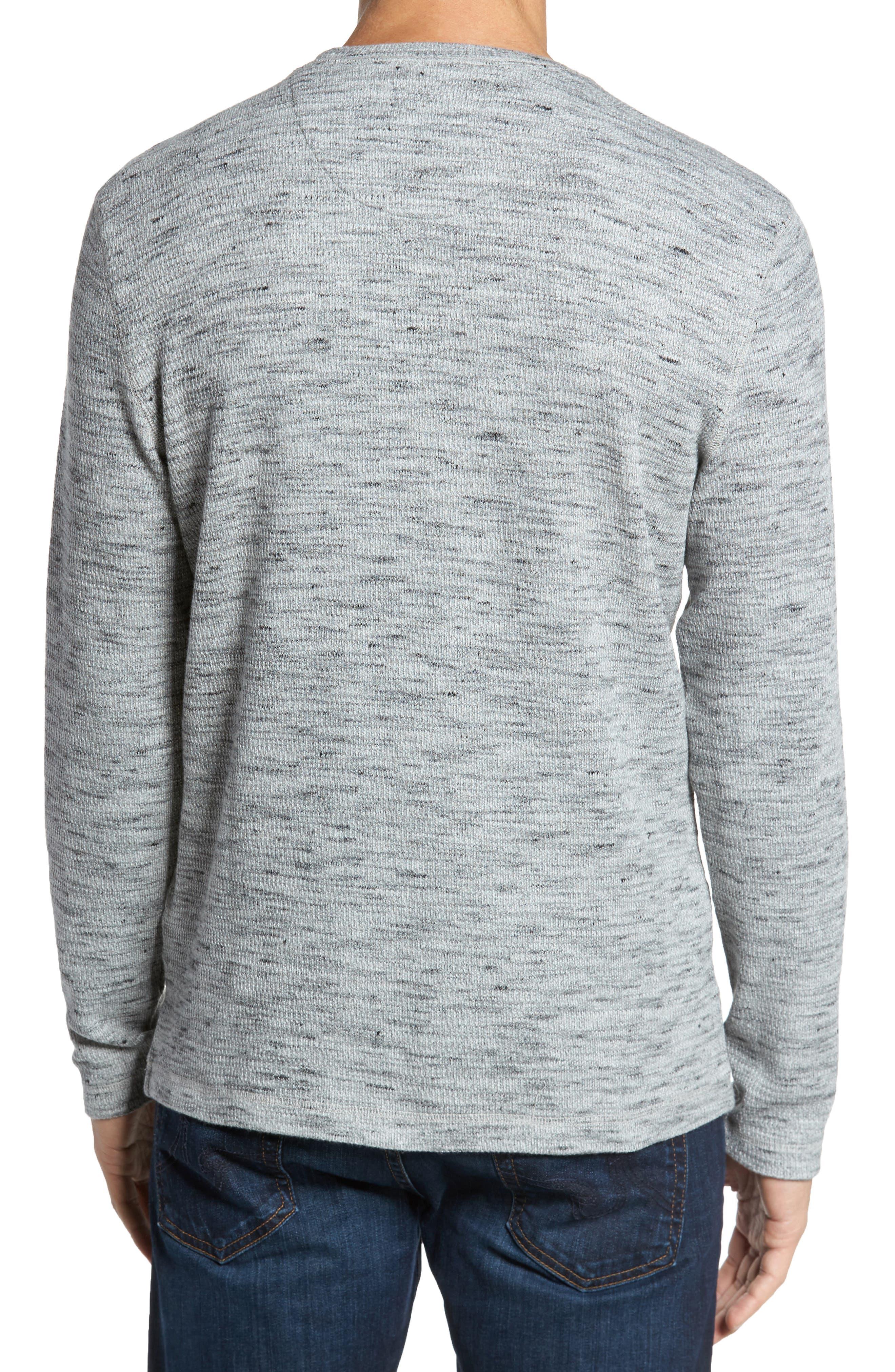 Waffle Knit Shirt,                             Alternate thumbnail 2, color,                             Grey Sleet Melange