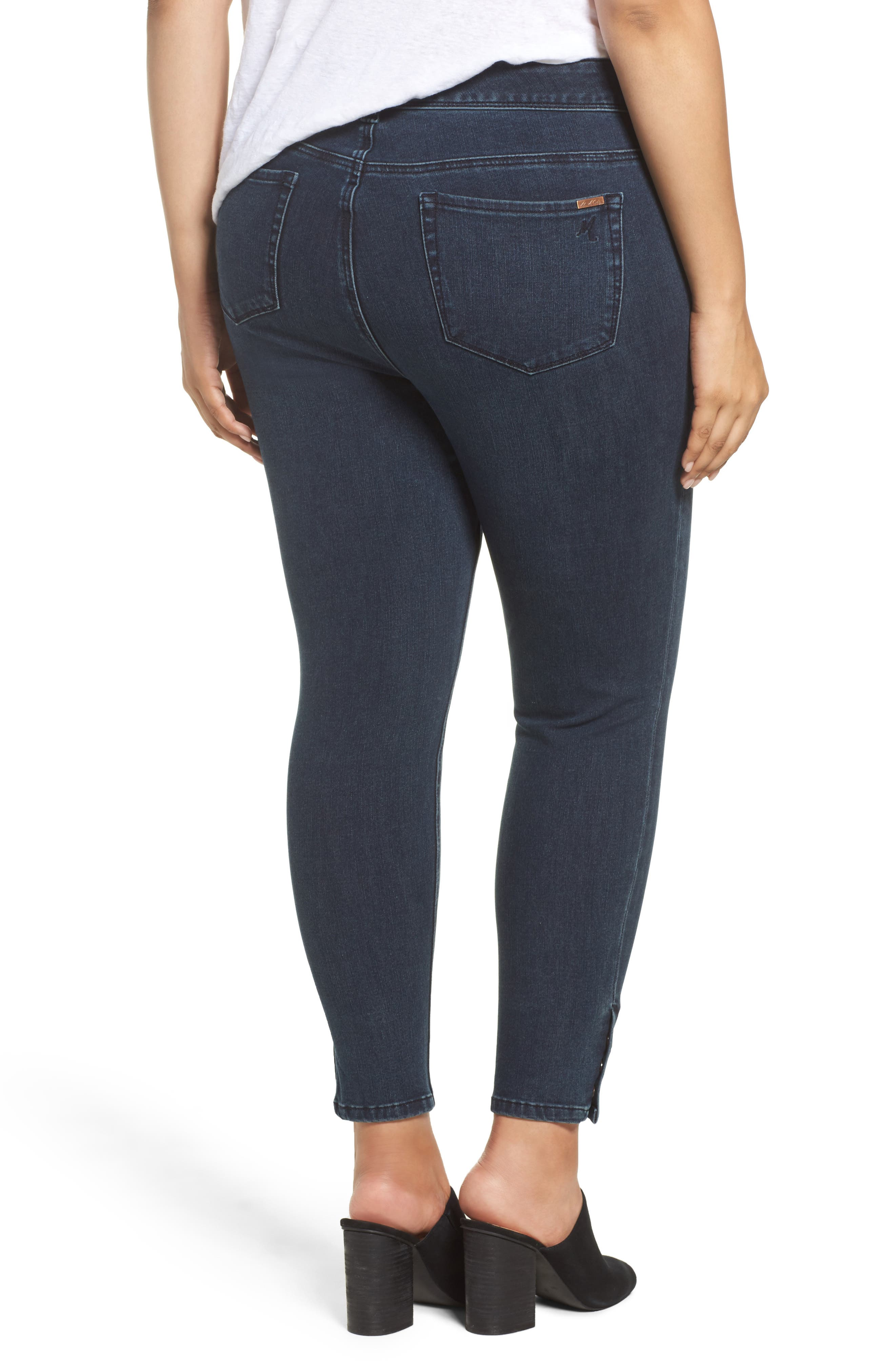 Alternate Image 2  - Melissa McCarthy Seven7 Snap Hem Pencil Jeans (Sasha) (Plus Size)