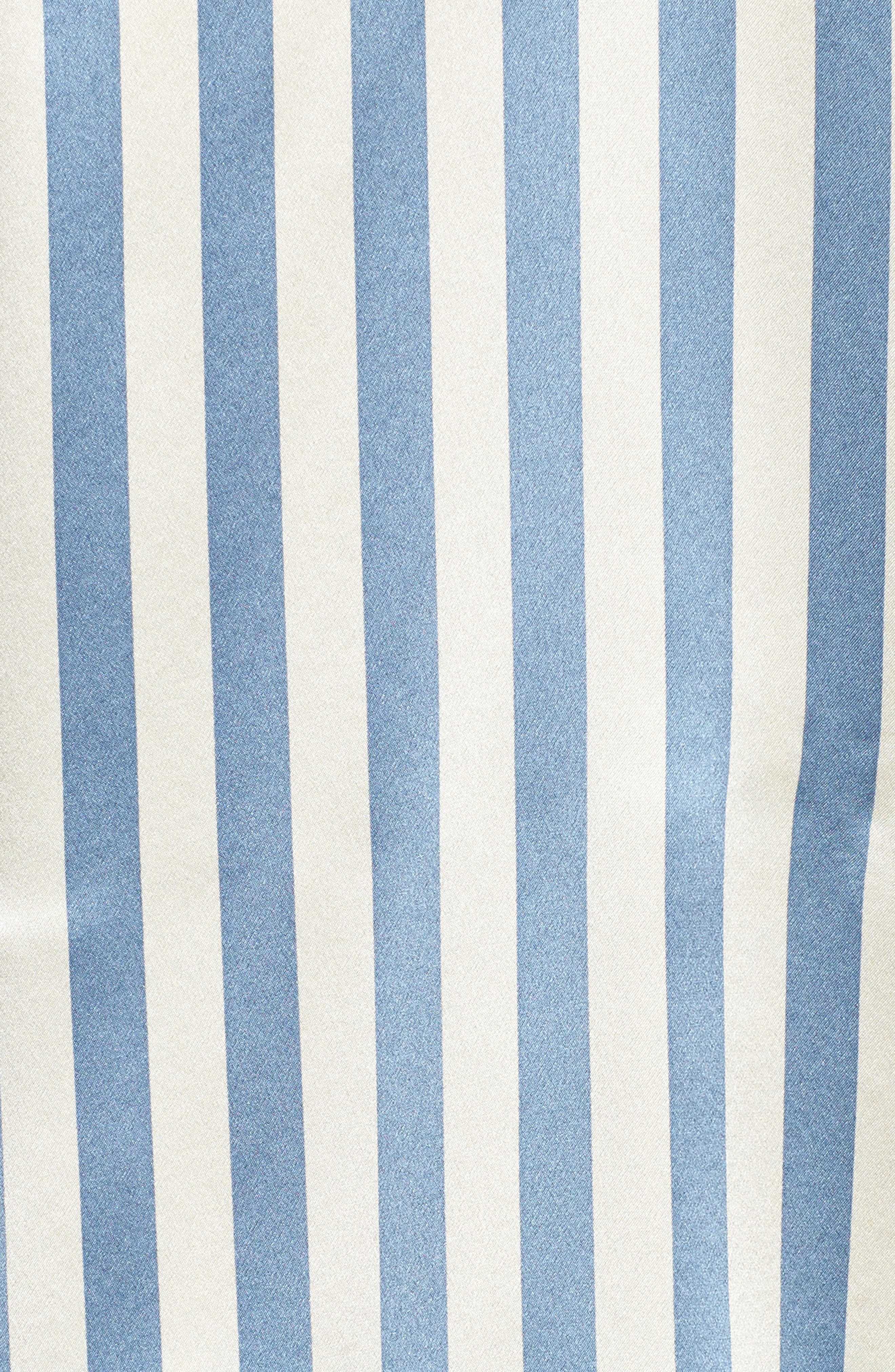 Jac Stripe Silk Camisole,                             Alternate thumbnail 7, color,                             Periwinkle