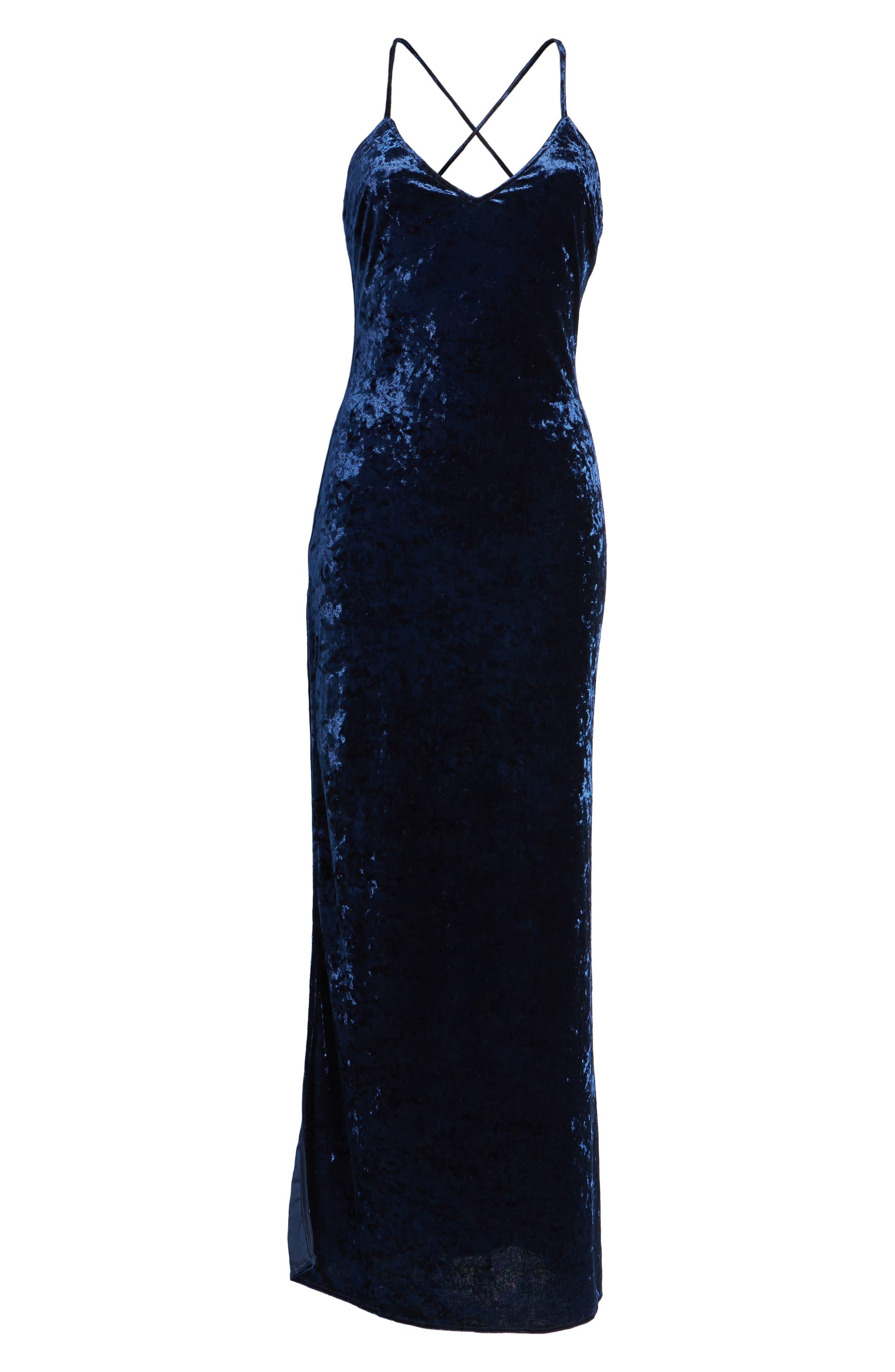 Alternate Image 6  - NBD In the Deep Velvet Maxi Dress