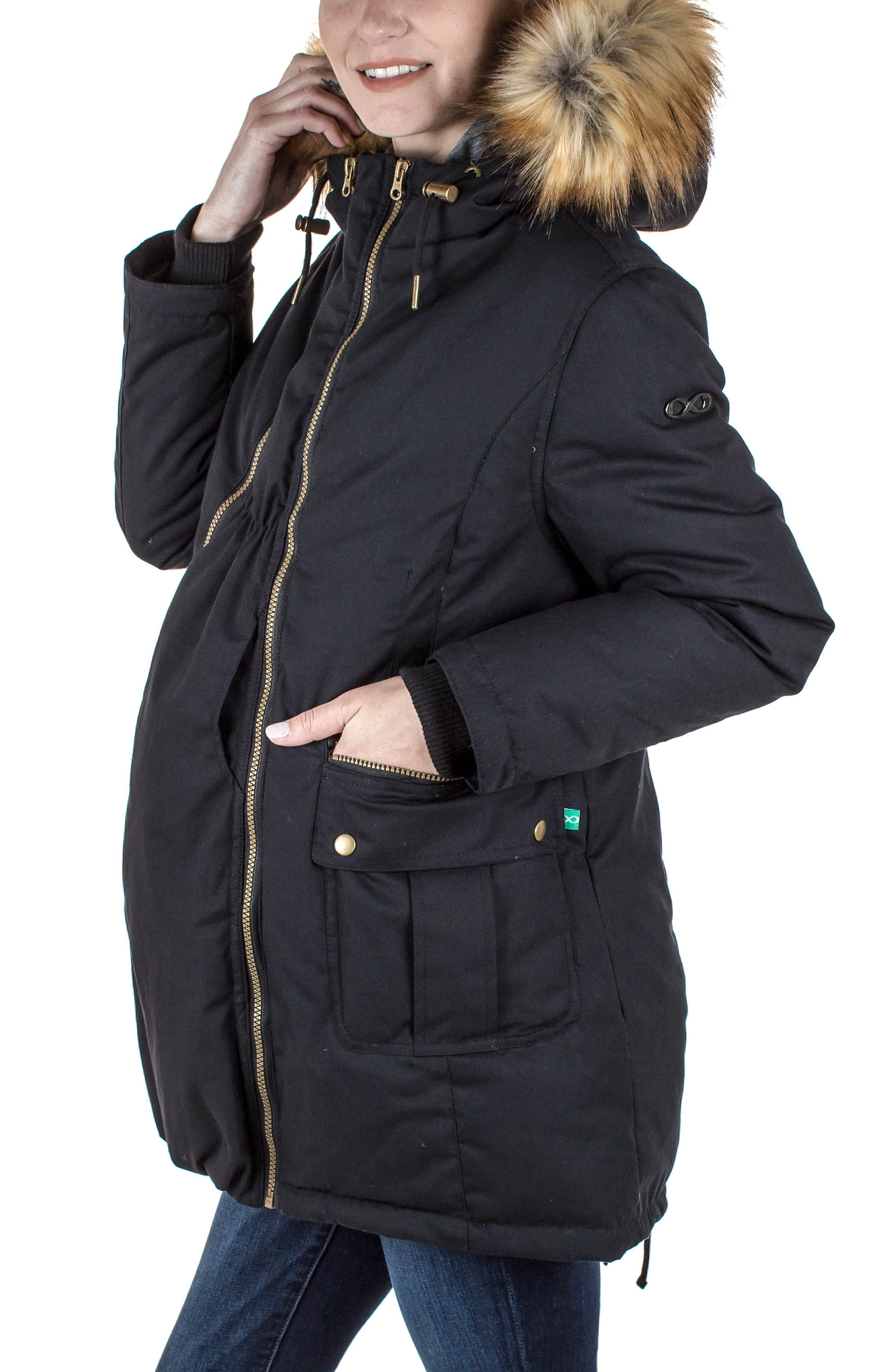 Alternate Image 5  - Modern Eternity Convertible Down Maternity Jacket