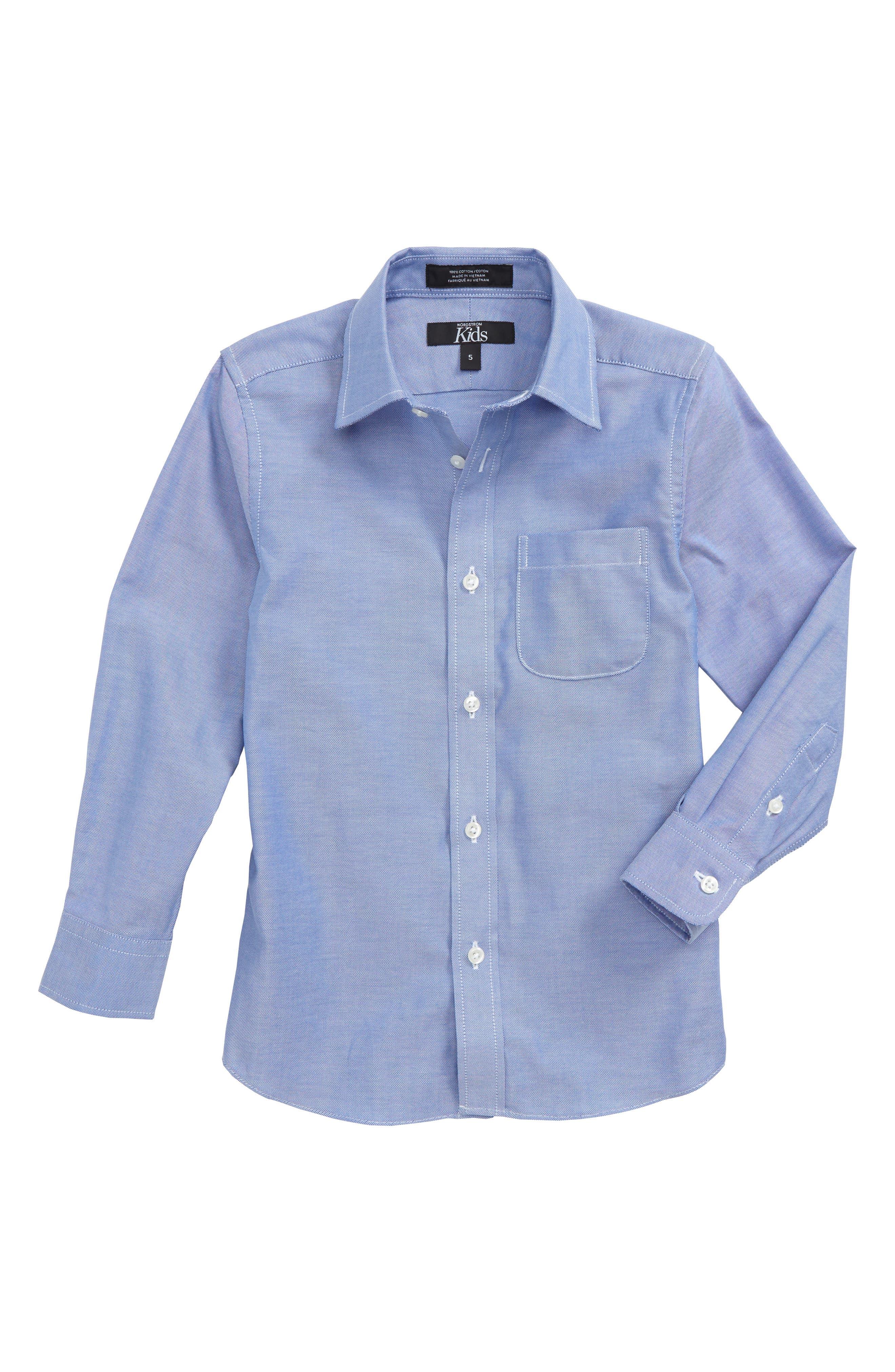 Check Dress Shirt,                         Main,                         color, White-Blue Neat