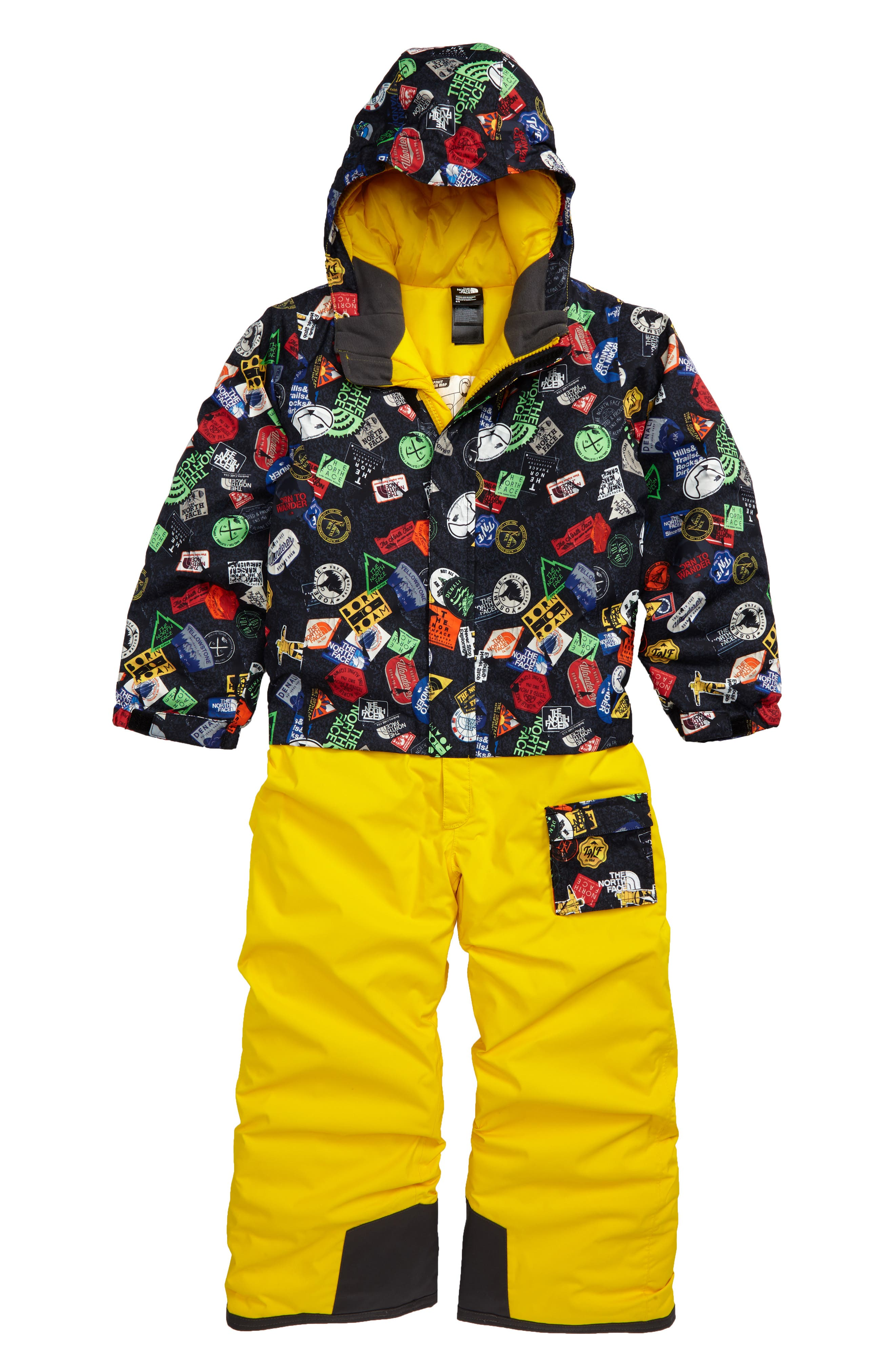 Heatseeker<sup>™</sup> Insulated Waterproof & Windproof Snowsuit,                         Main,                         color, Tnf Black Bombdiggity Print