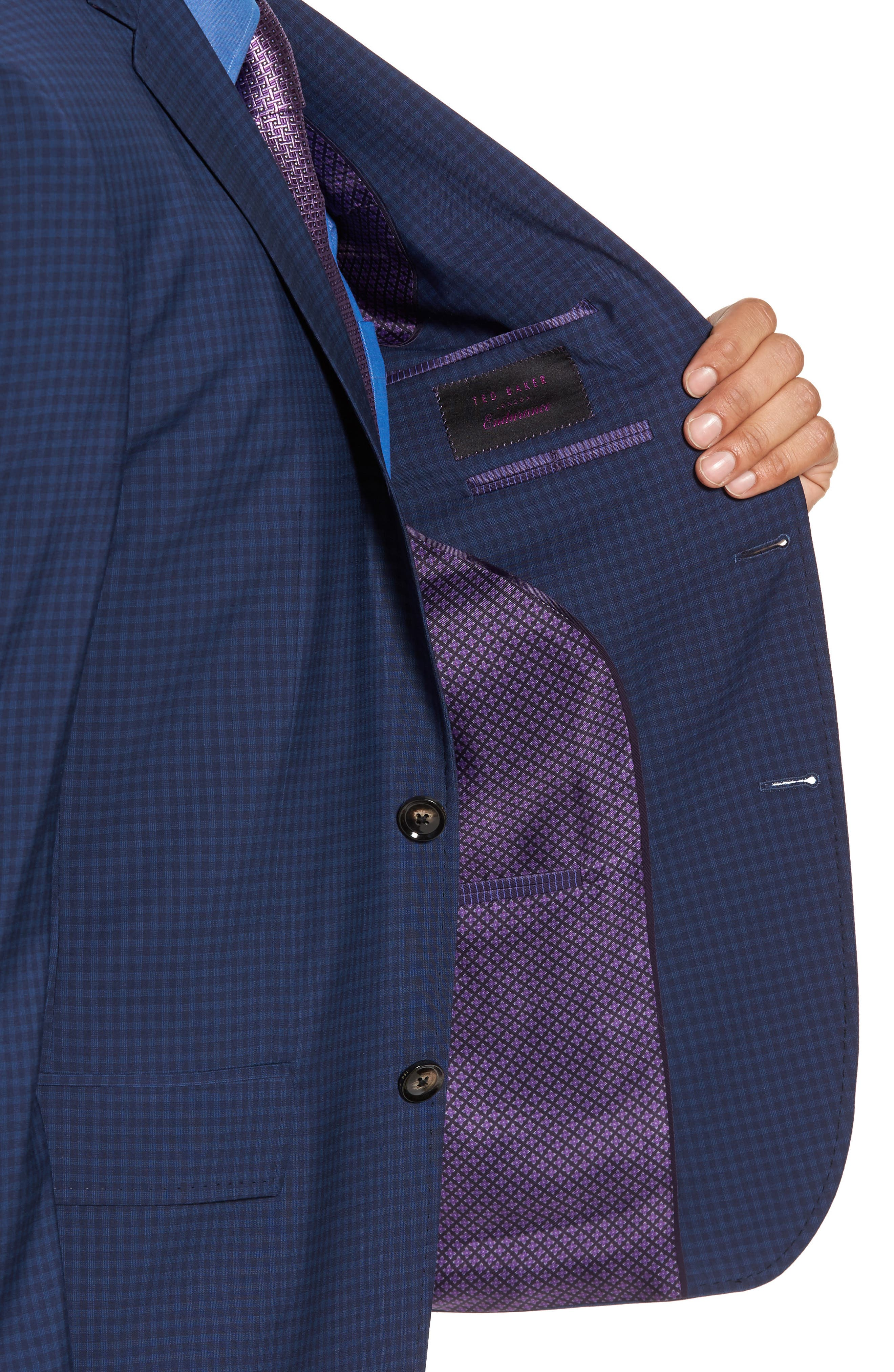 Jay Trim Fit Stretch Wool Suit,                             Alternate thumbnail 4, color,                             Blue