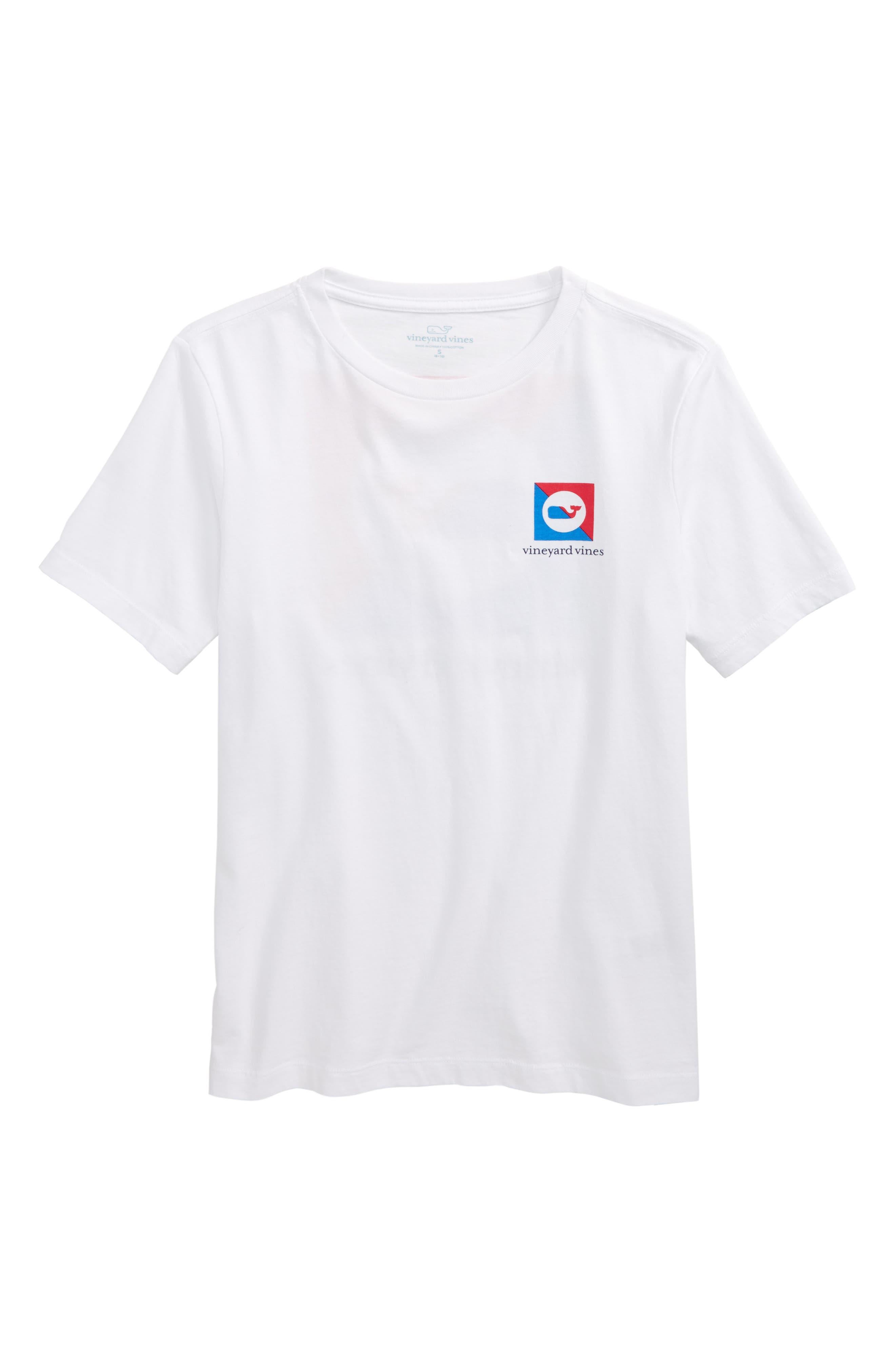 Burgee Logo Graphic T-Shirt,                         Main,                         color, White Cap