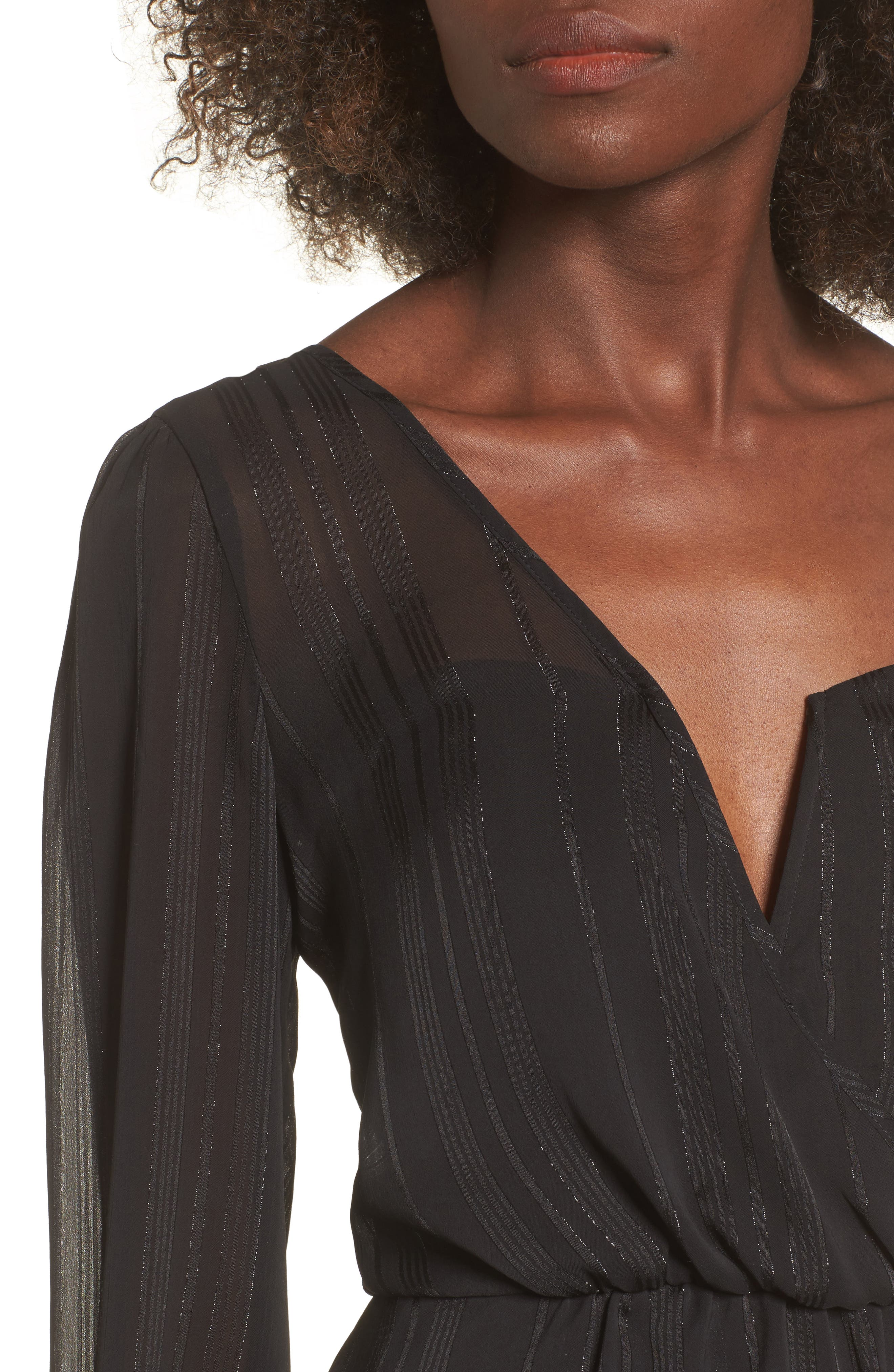One Shoulder Top,                             Alternate thumbnail 4, color,                             Black