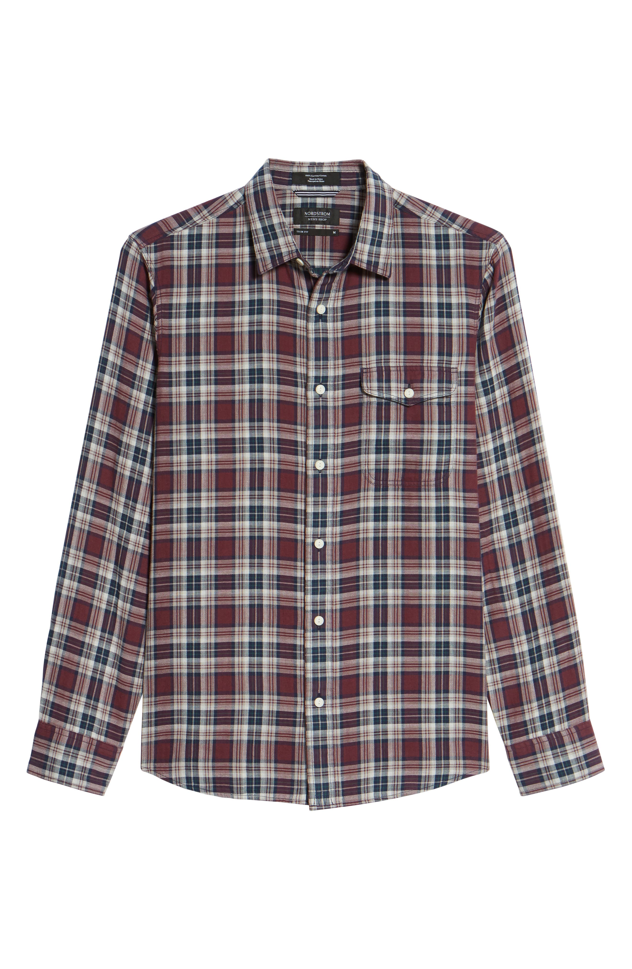 Alternate Image 6  - Nordstrom Men's Shop Lumber Duofold Slim Fit Plaid Shirt