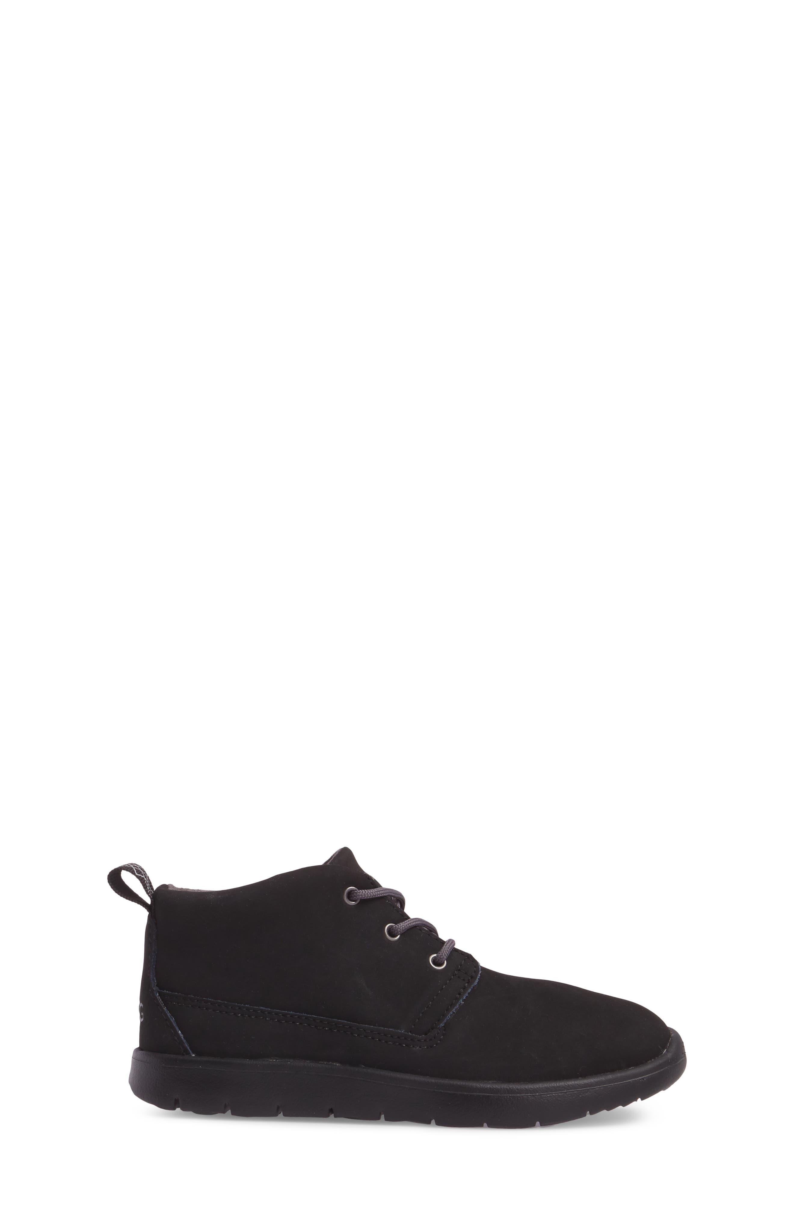 Canoe Water Resistant Chukka Sneaker,                             Alternate thumbnail 3, color,                             Black