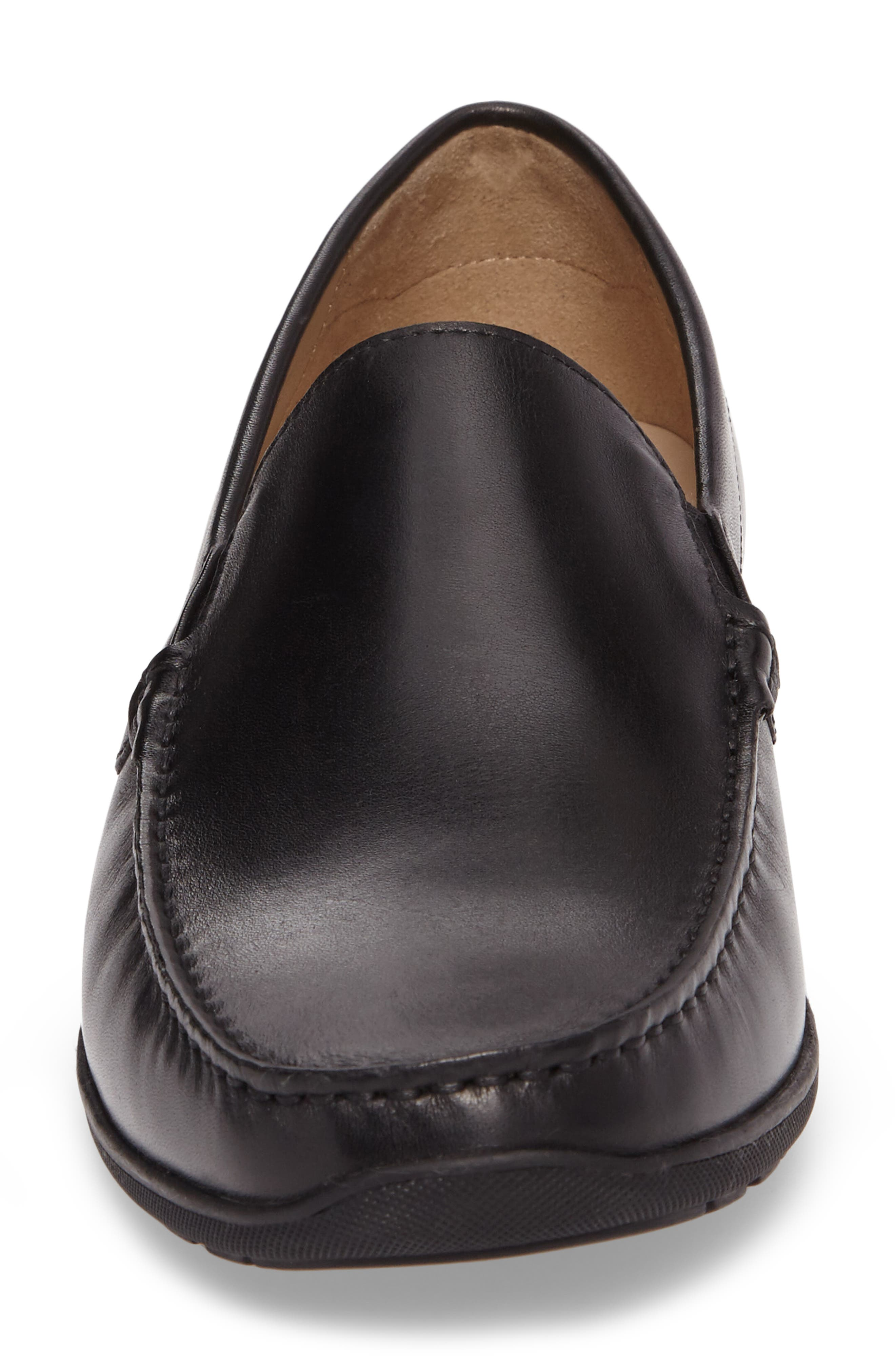 Classic Loafer,                             Alternate thumbnail 4, color,                             Black Leather