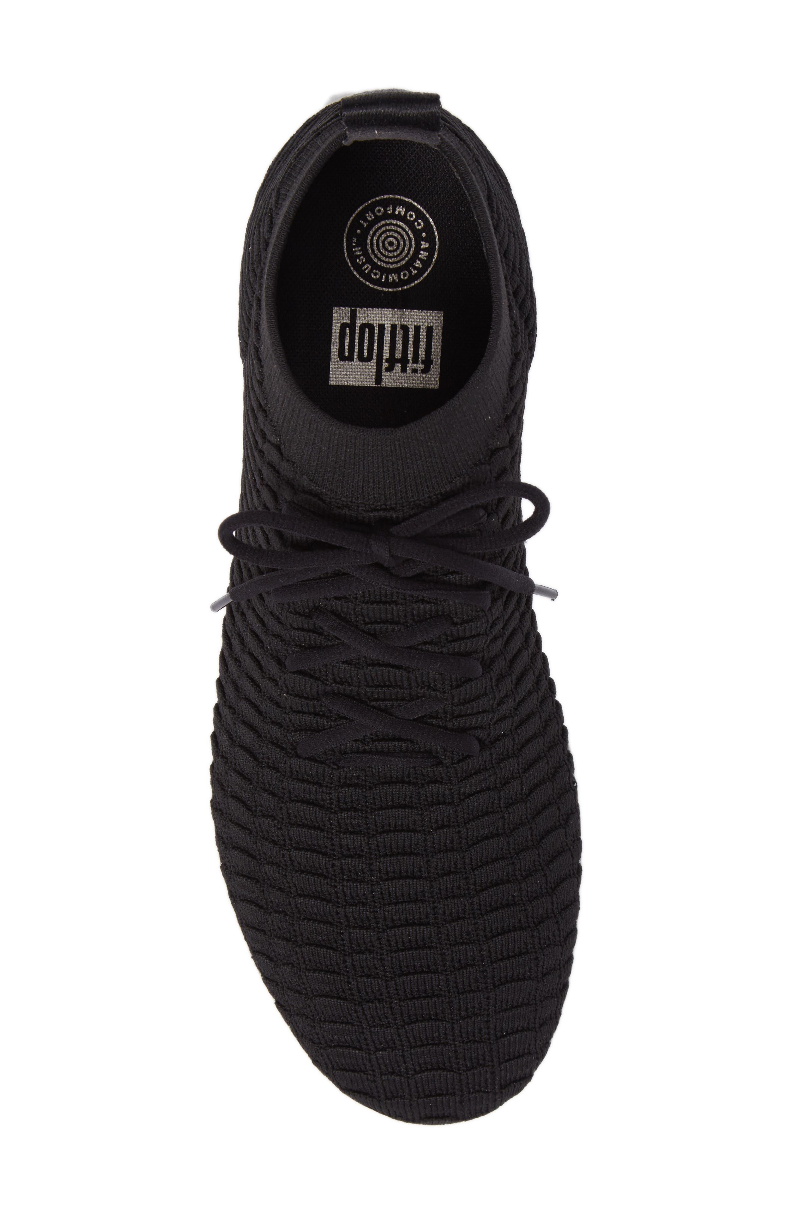 Uberknit Sneaker,                             Alternate thumbnail 5, color,                             Black Textile