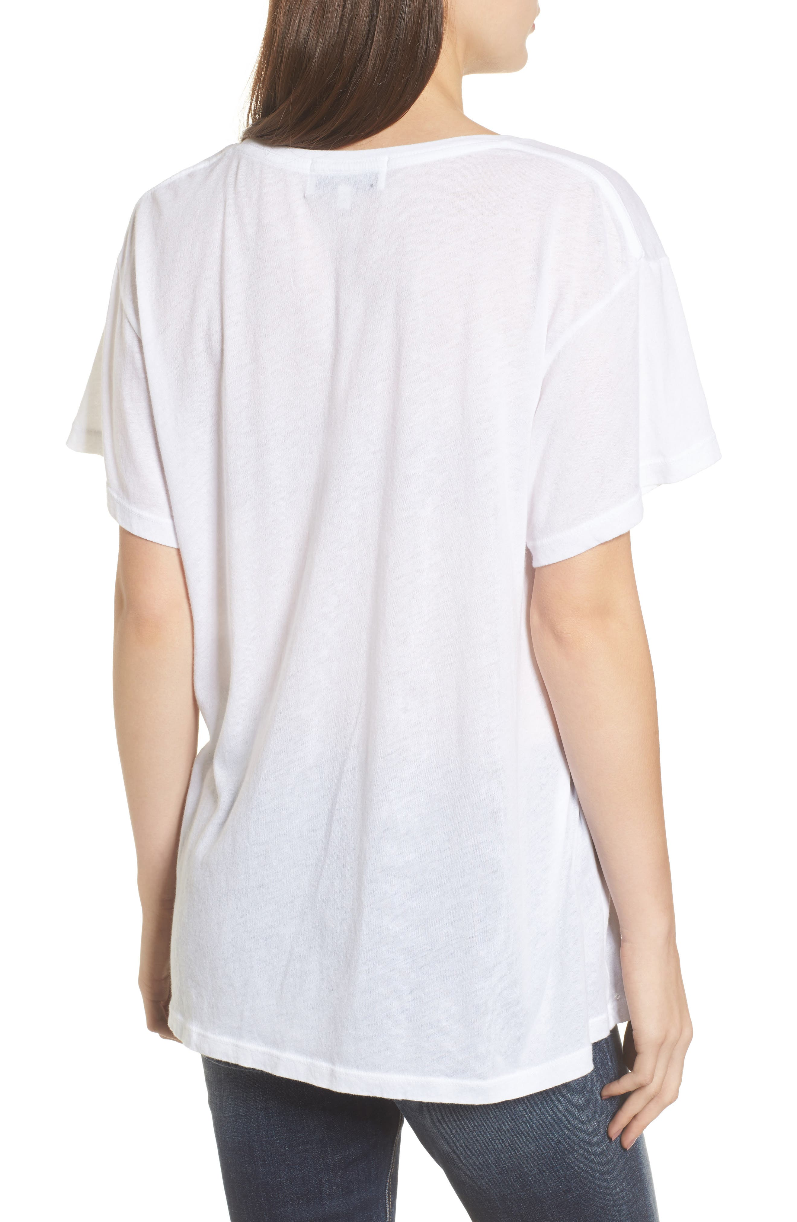 Staying in Is the New Going Out Tee,                             Alternate thumbnail 2, color,                             Clean White