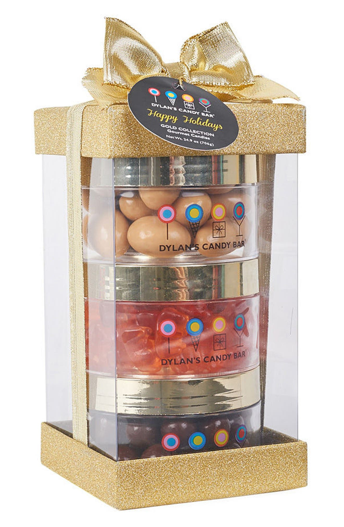 Dylan's Candy Bar Deluxe Christmas 3-Piece Stack A-Round Gift Box