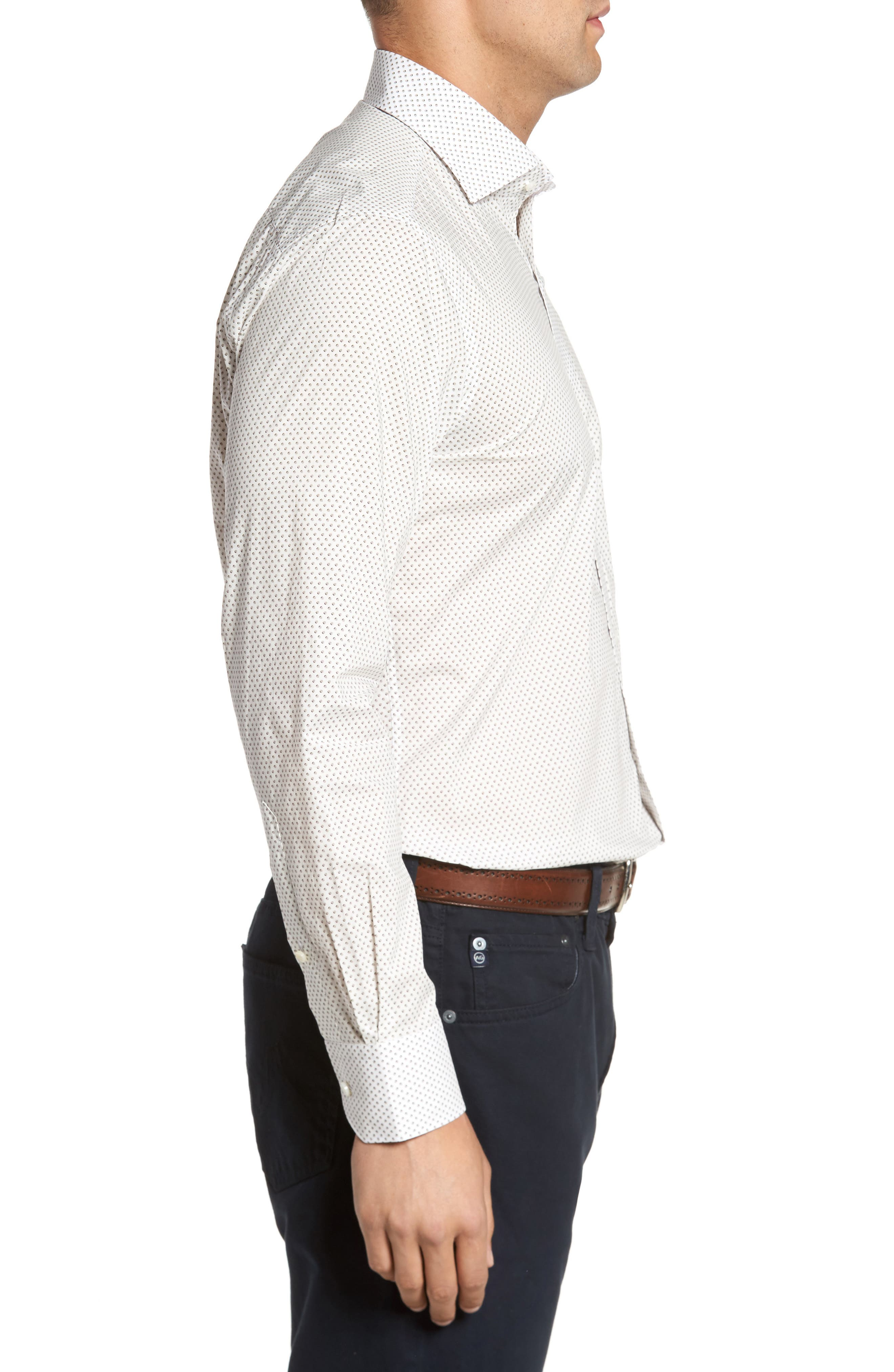 Alternate Image 3  - Peter Millar Collection Desert Dot Print Sport Shirt