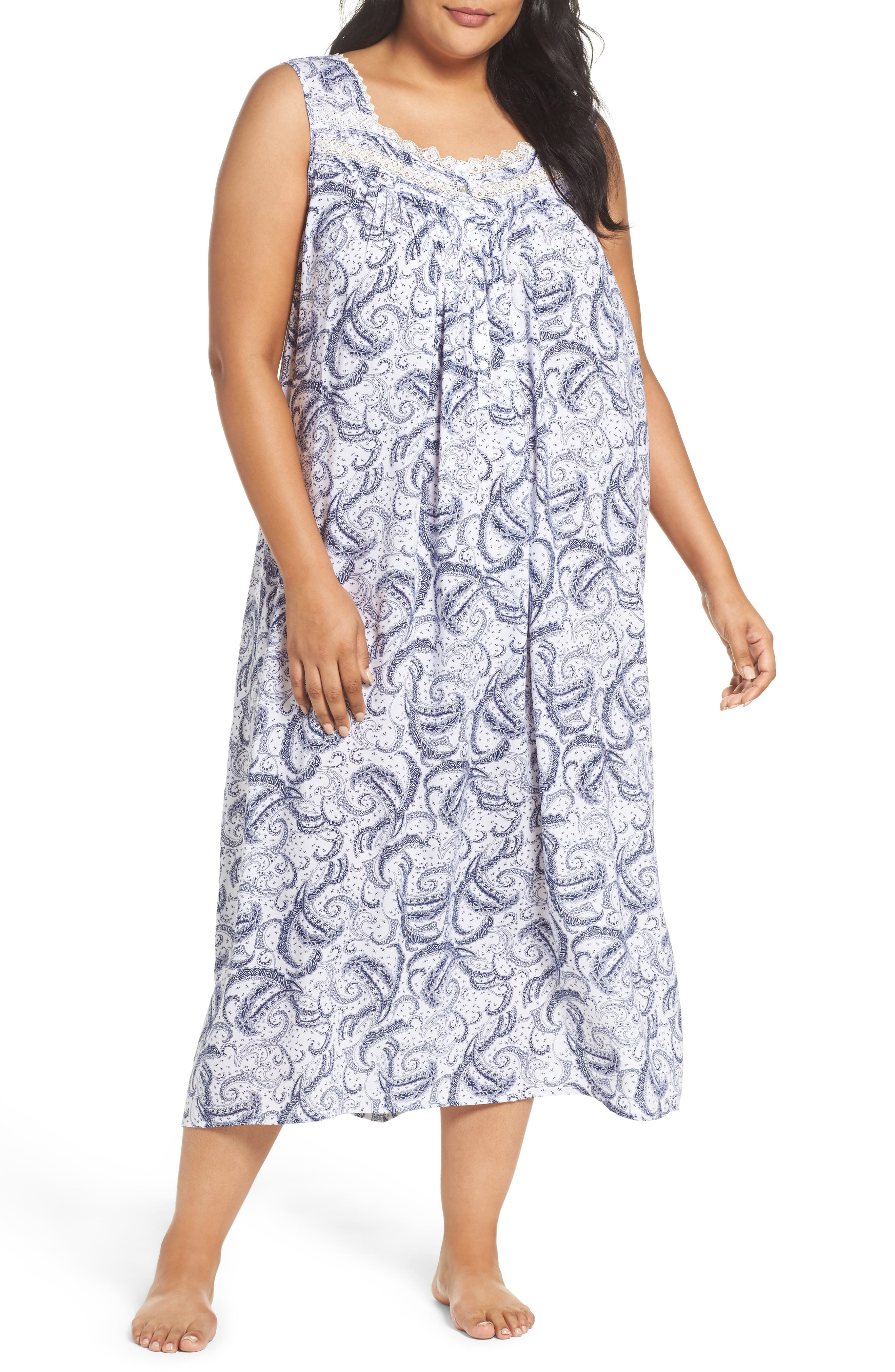 Alternate Image 1 Selected - Eileen West Ballet Nightgown (Plus Size)