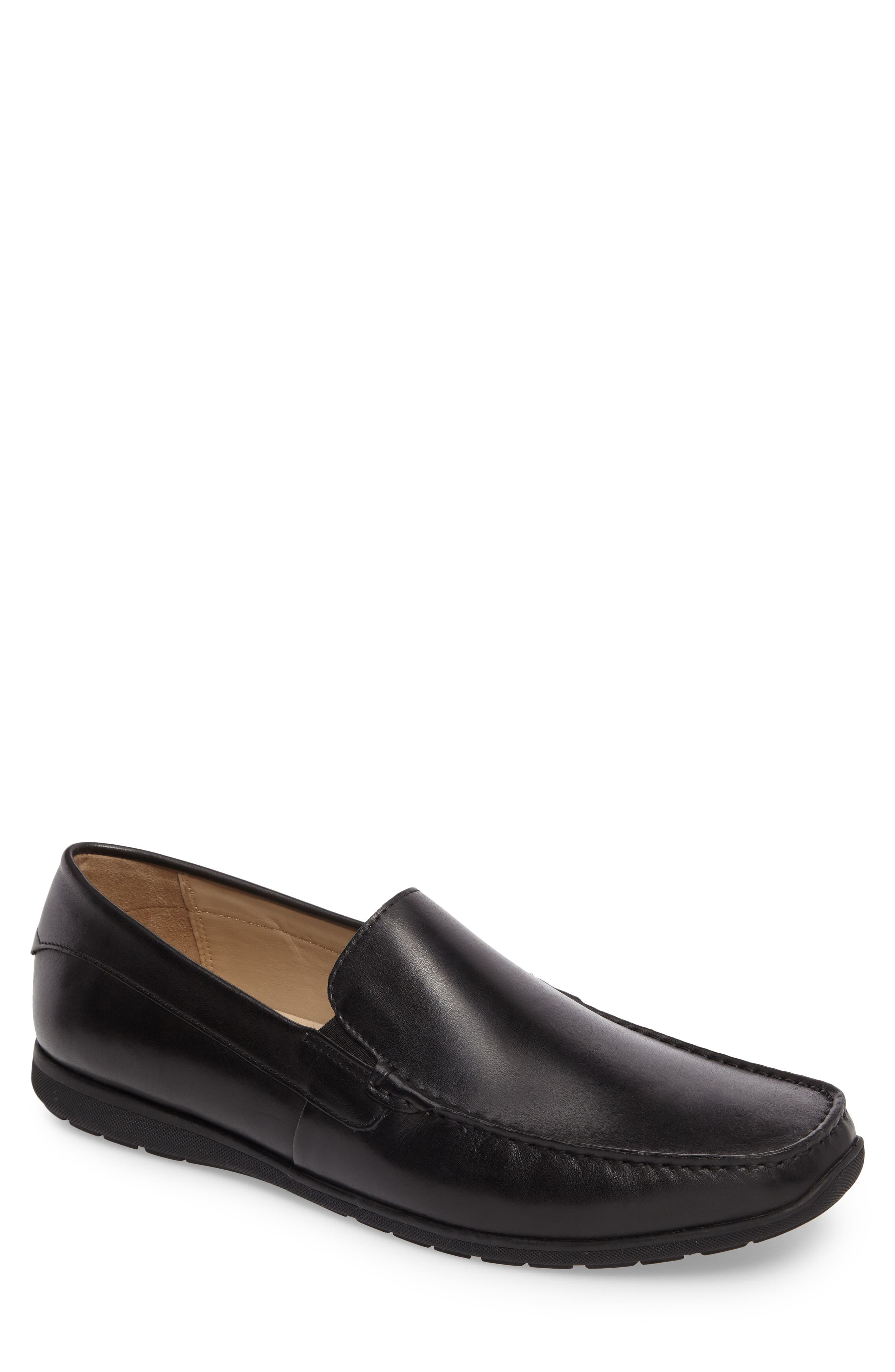 Classic Loafer,                         Main,                         color, Black Leather