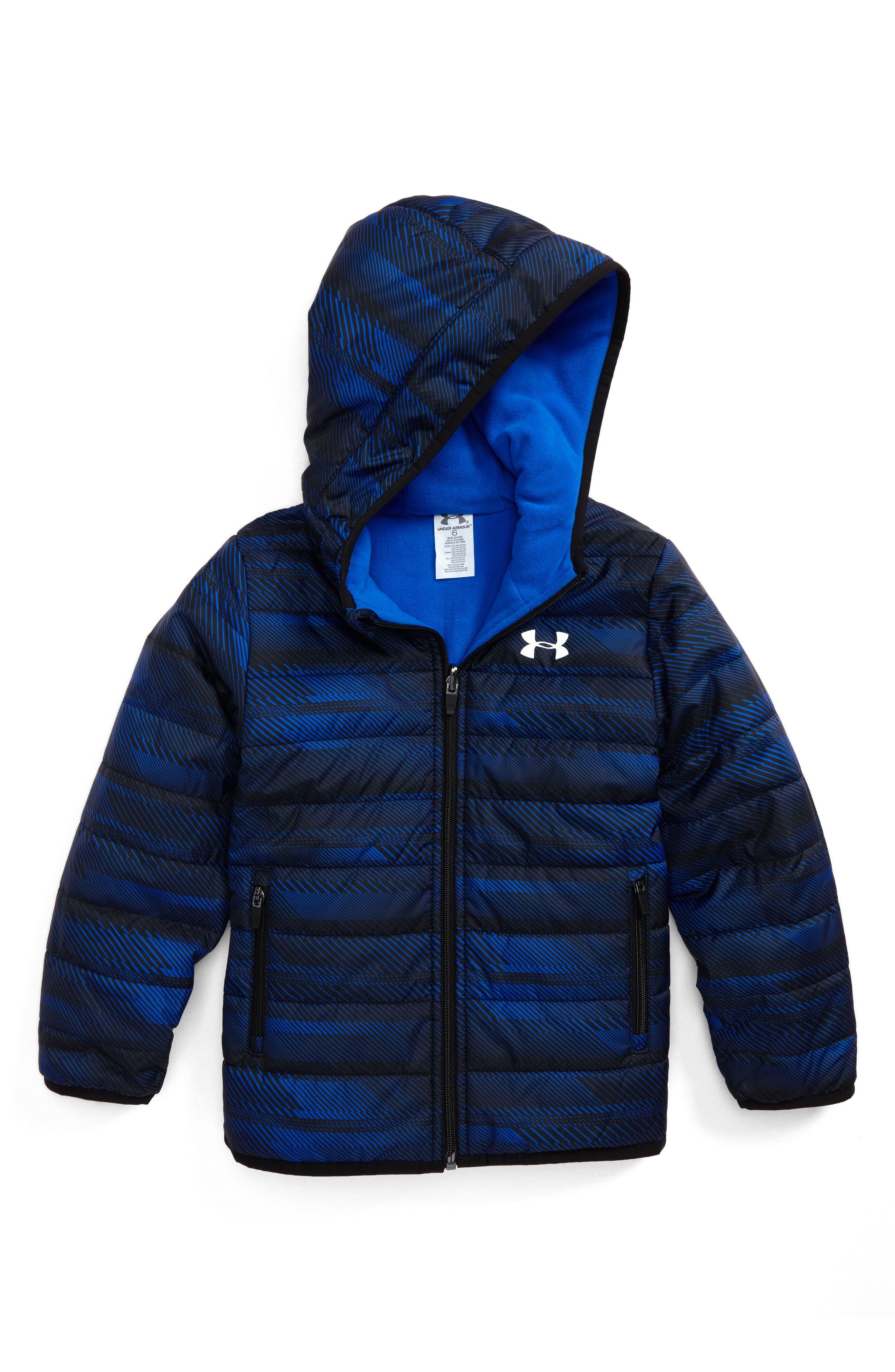 Speedlines ColdGear<sup>®</sup> Reversible Puffer Jacket,                         Main,                         color, Ultra Blue